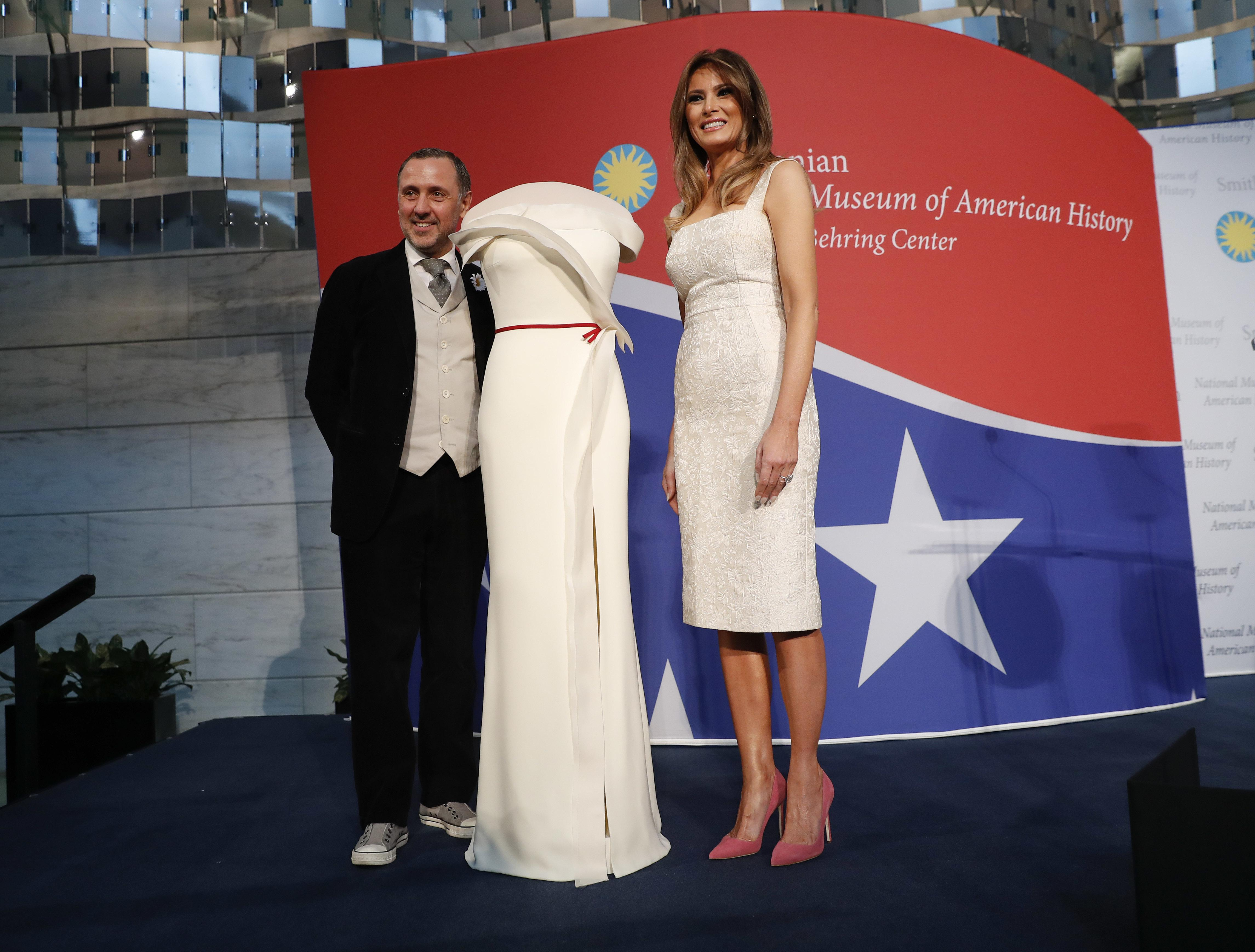 First lady donates inaugural gown to Smithsonian - Washington Times