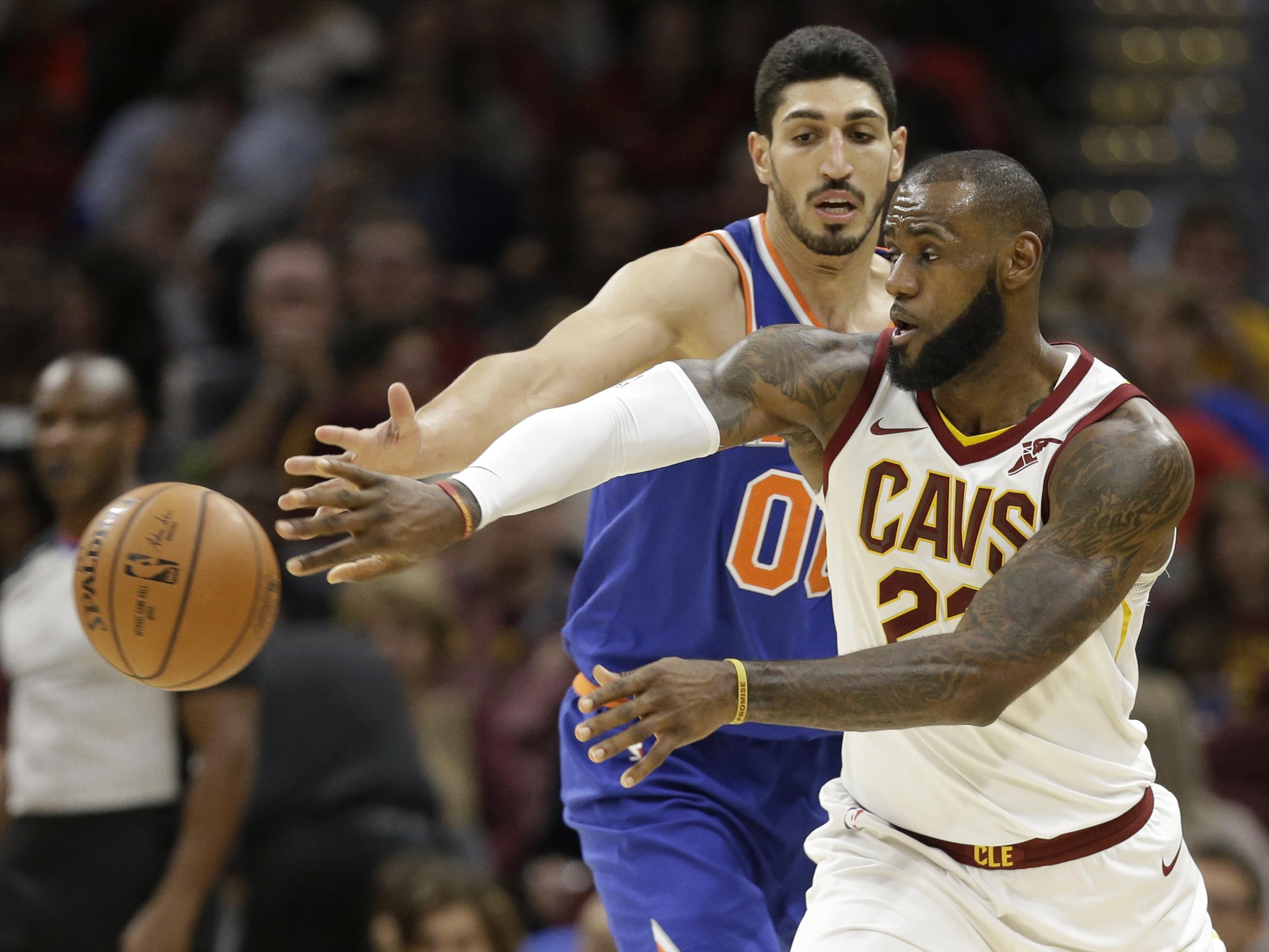3475e46460f Enes Kanter trolls LeBron James after ejection - Washington Times