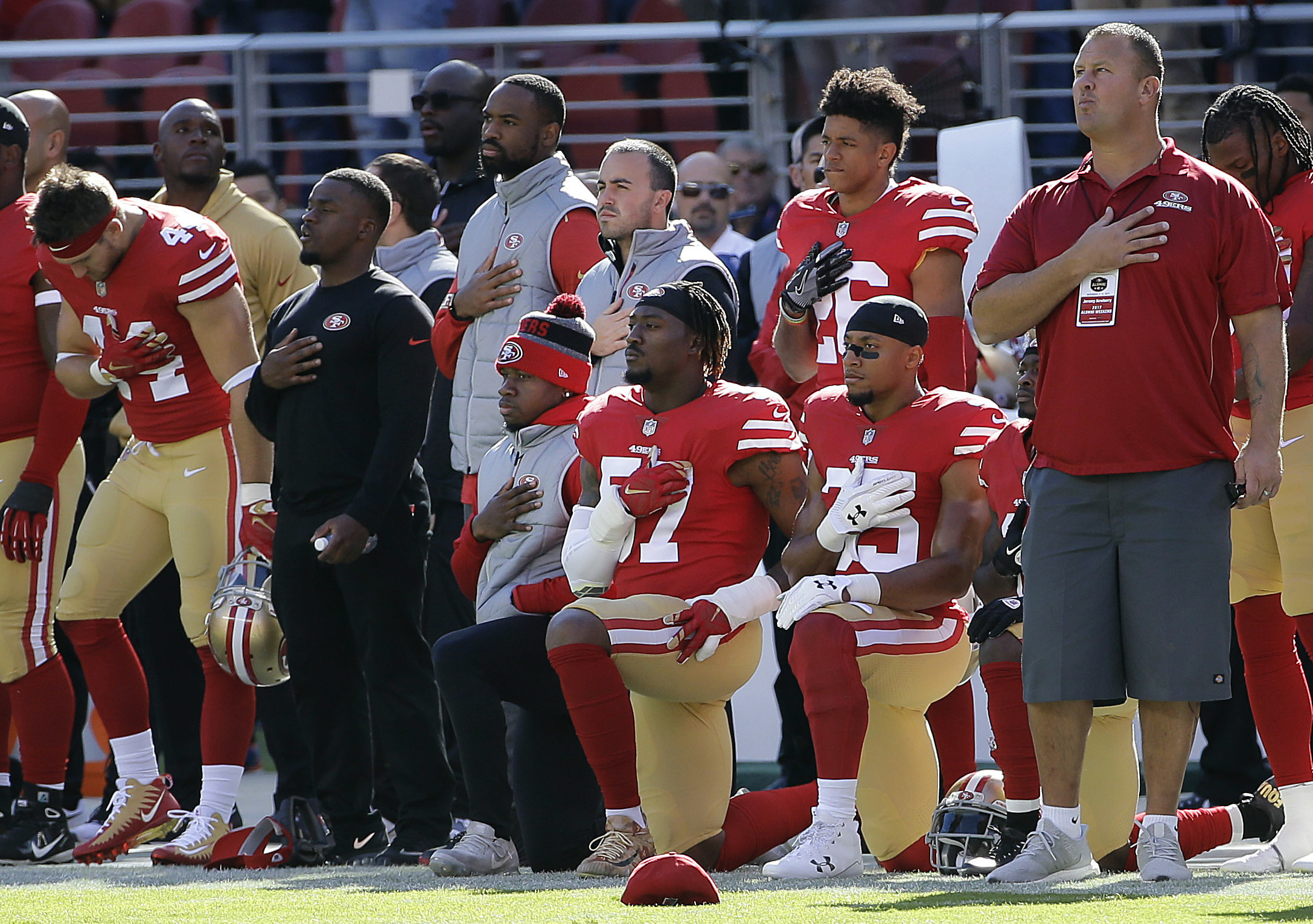 997aa58b158 NFL take-a-knee protests boil down to two liberal cities - Washington Times