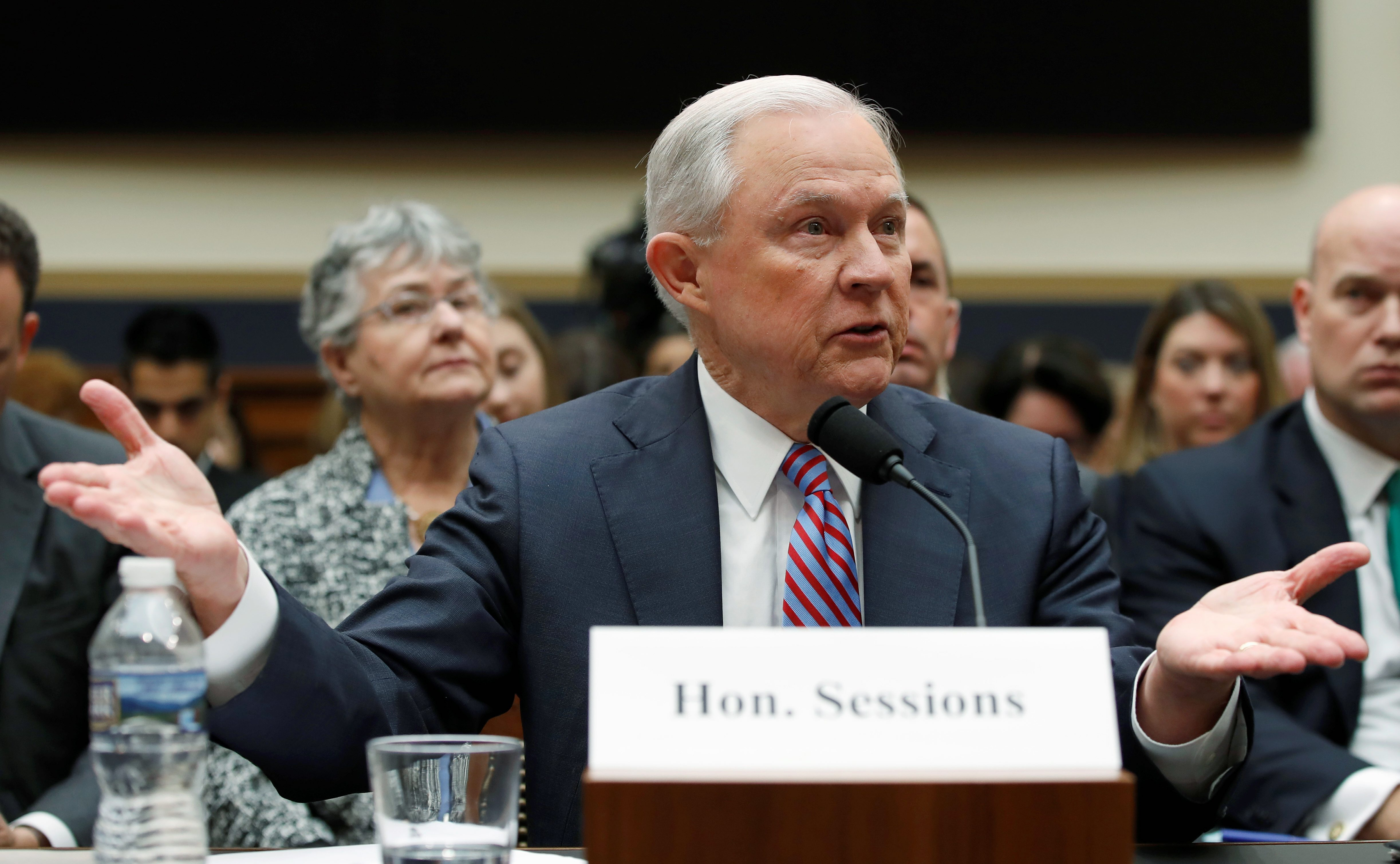 photo image Jeff Sessions admits knowing Russia was courting Trump