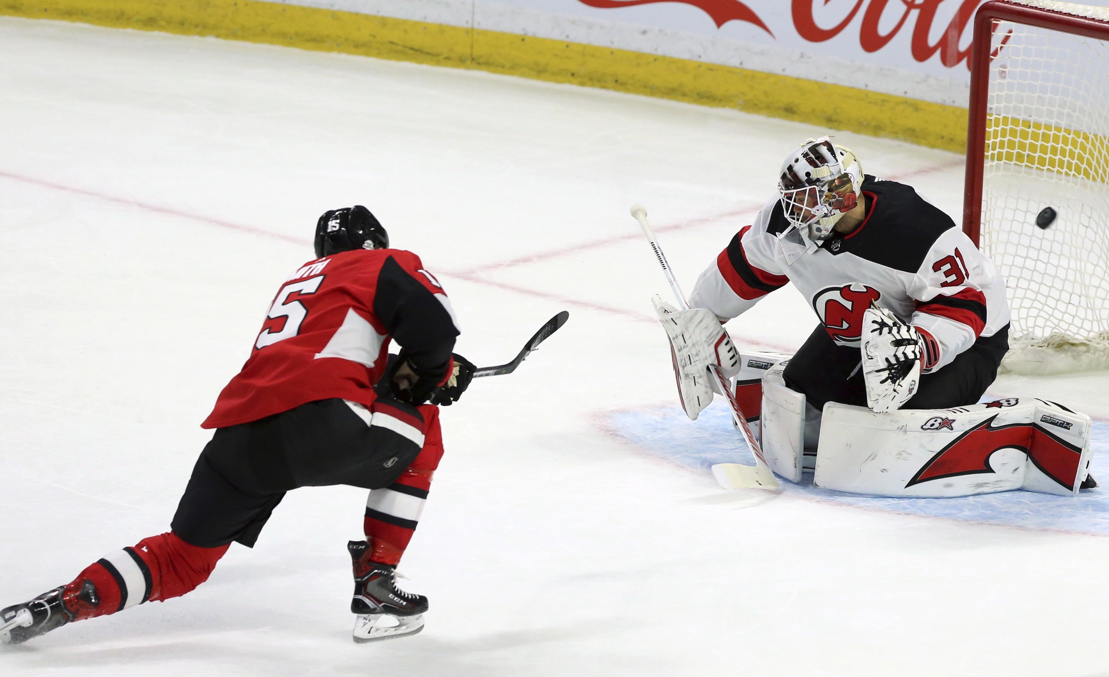 b778438db6e Duchene leads undermanned Senators to 5-3 win over Devils - Washington Times