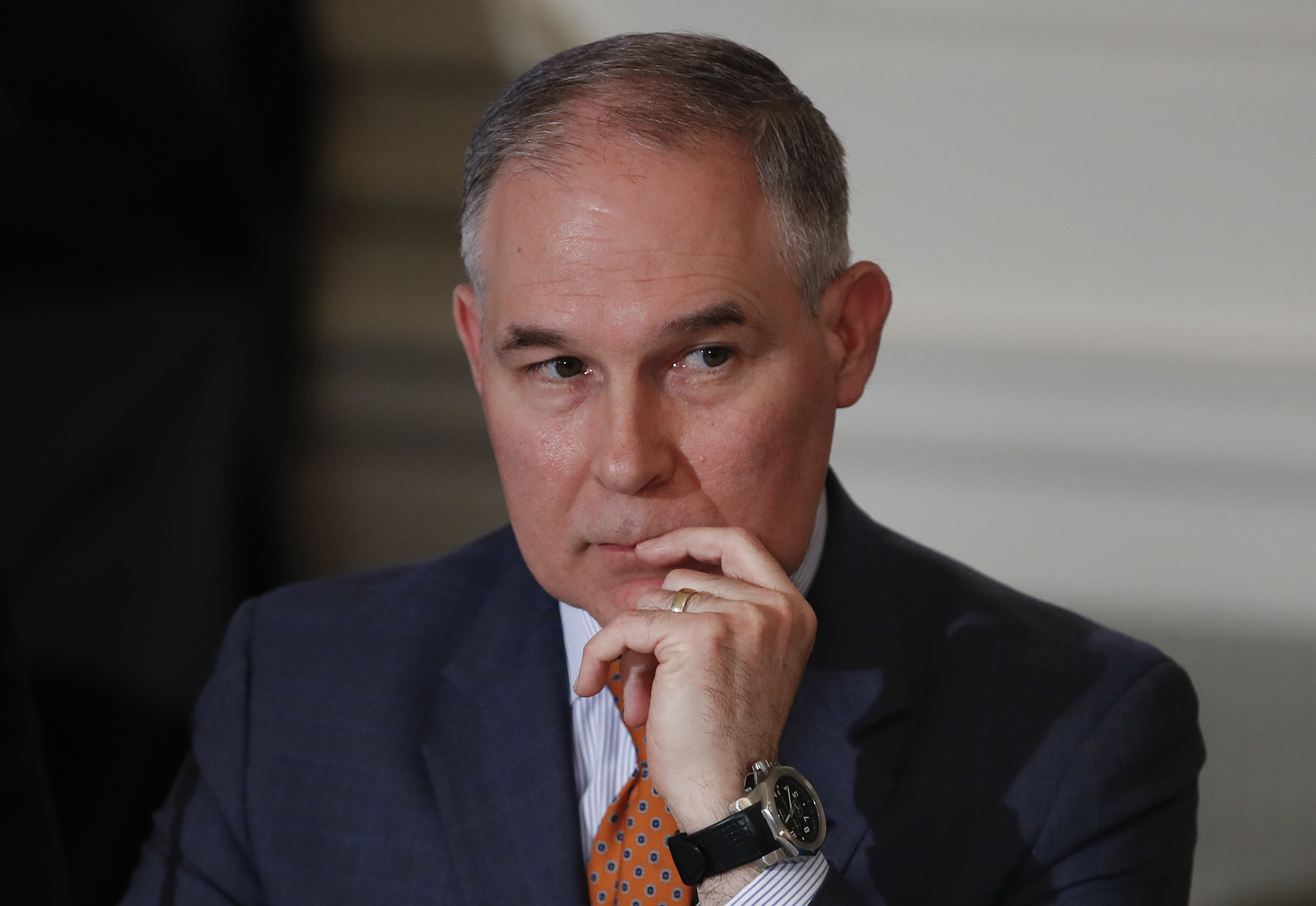 Scott Pruitt says he flies first class due to 'toxic' politics, safety concerns