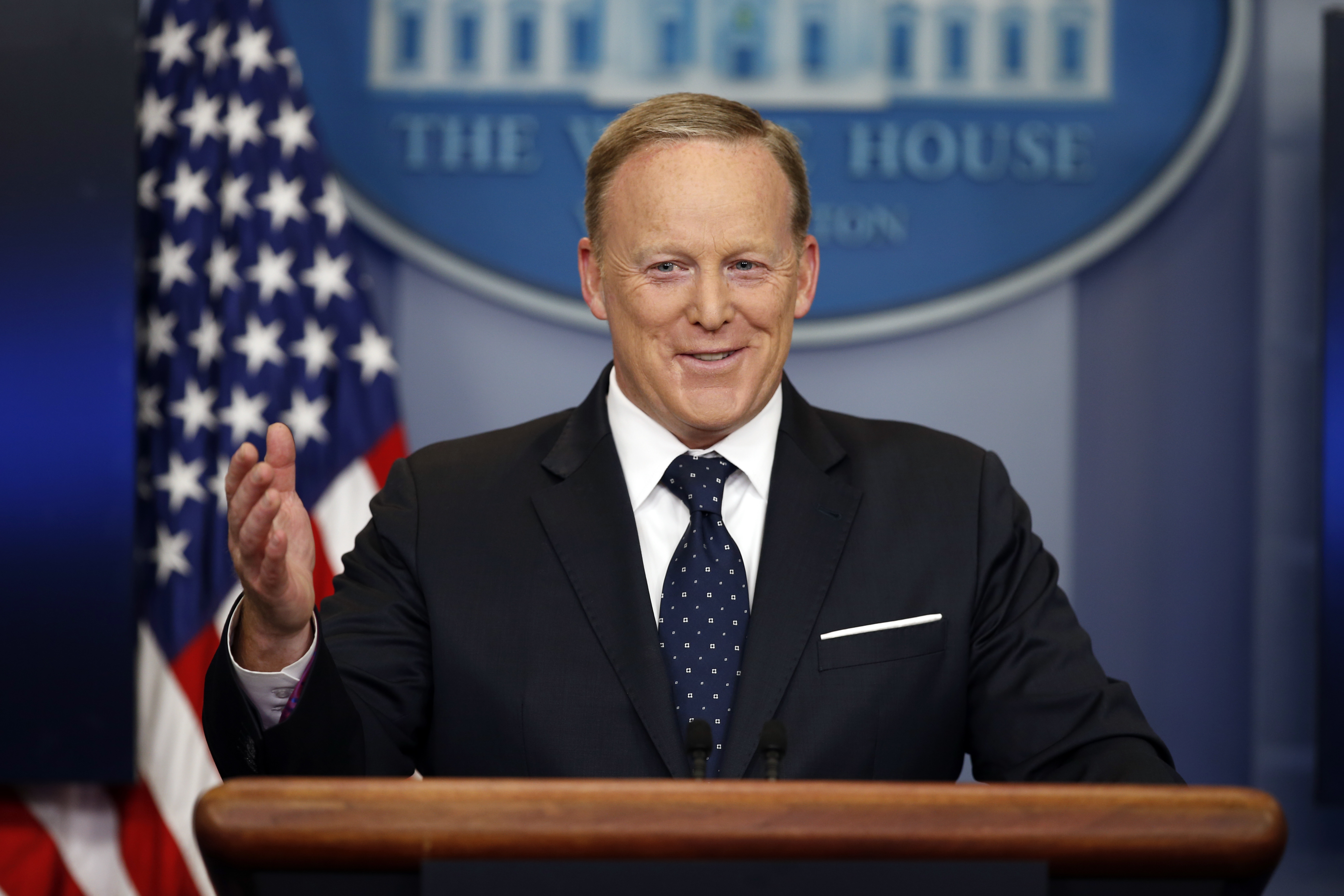 Spicer on returning as White House press secretary: 'Oh no. No, no, no.'