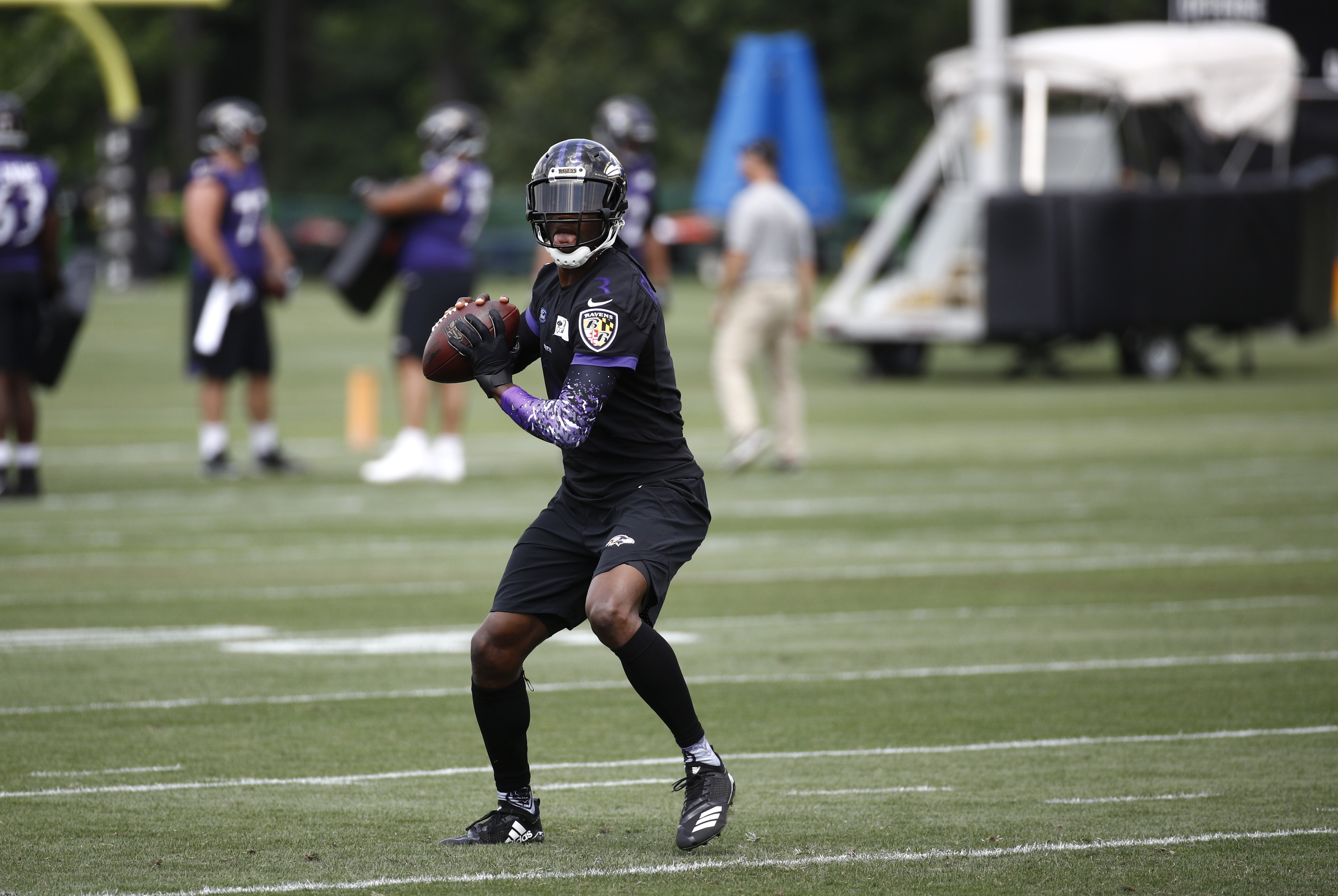 ed86e6d91 Robert Griffin III having fun serving as mentor in Ravens  packed QB room -  Washington Times