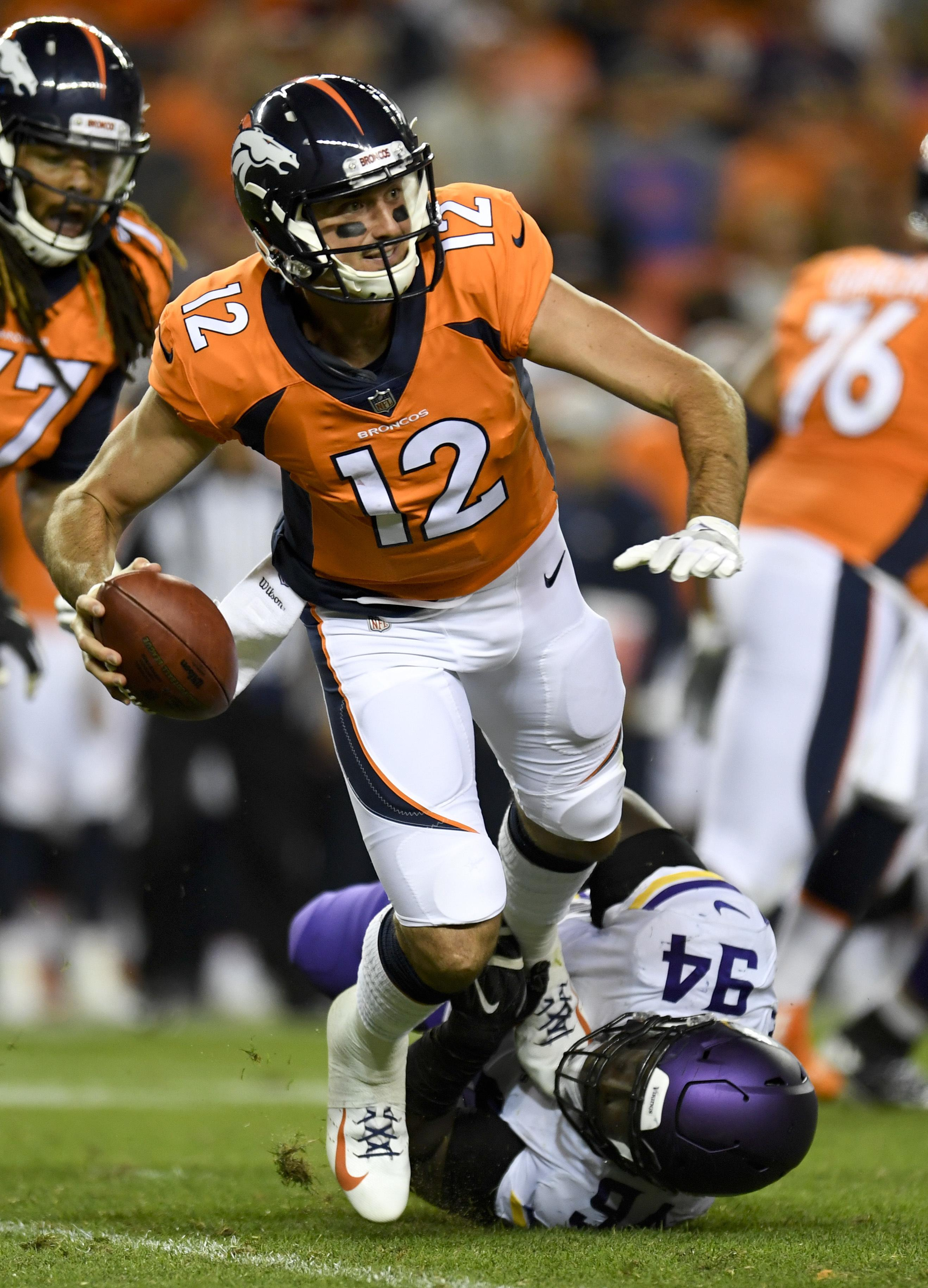 de24f645a Paxton Lynch demoted, Chad Kelly promoted in Denver - Washington Times