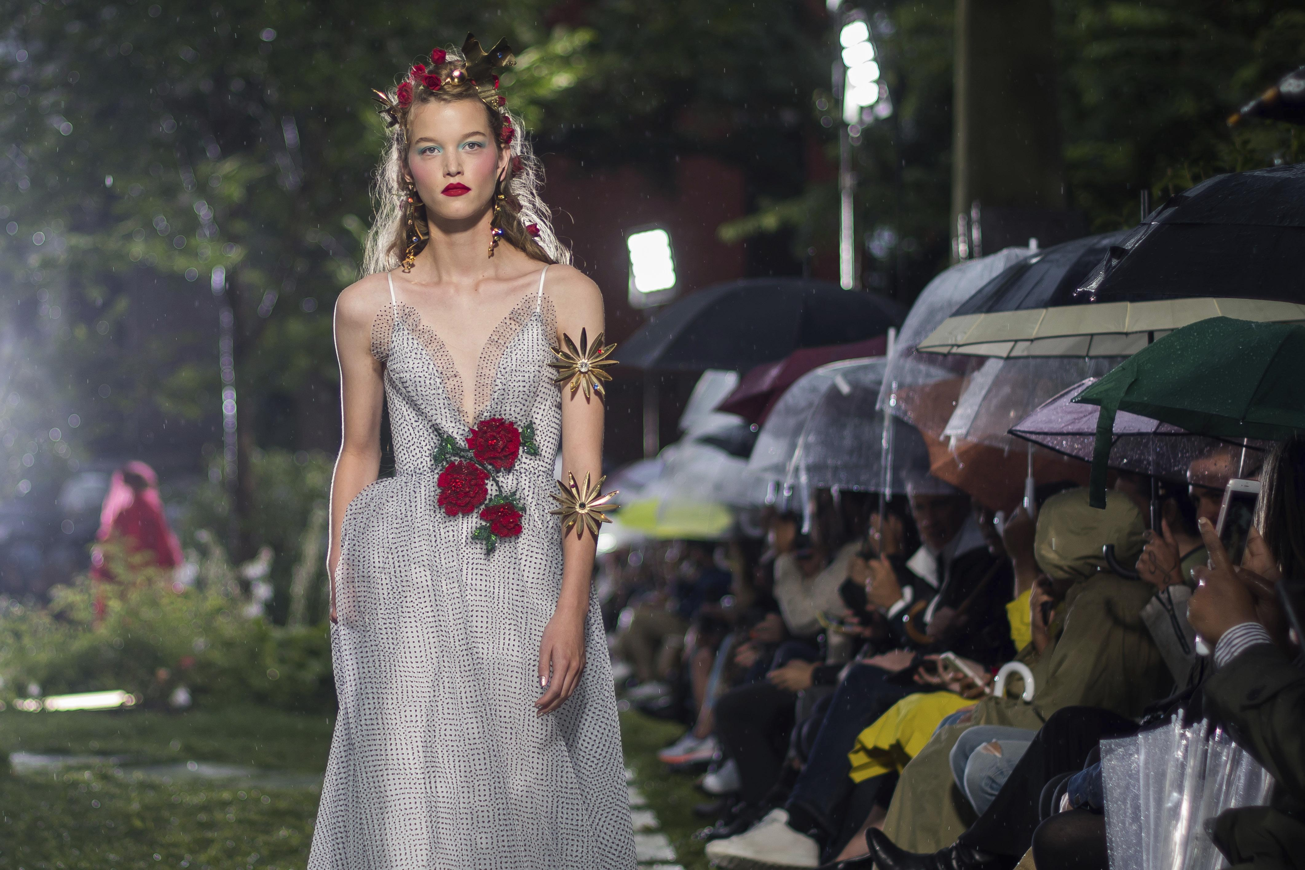 Under a steady rain, Rodarte\'s fairy tale designs shimmer ...