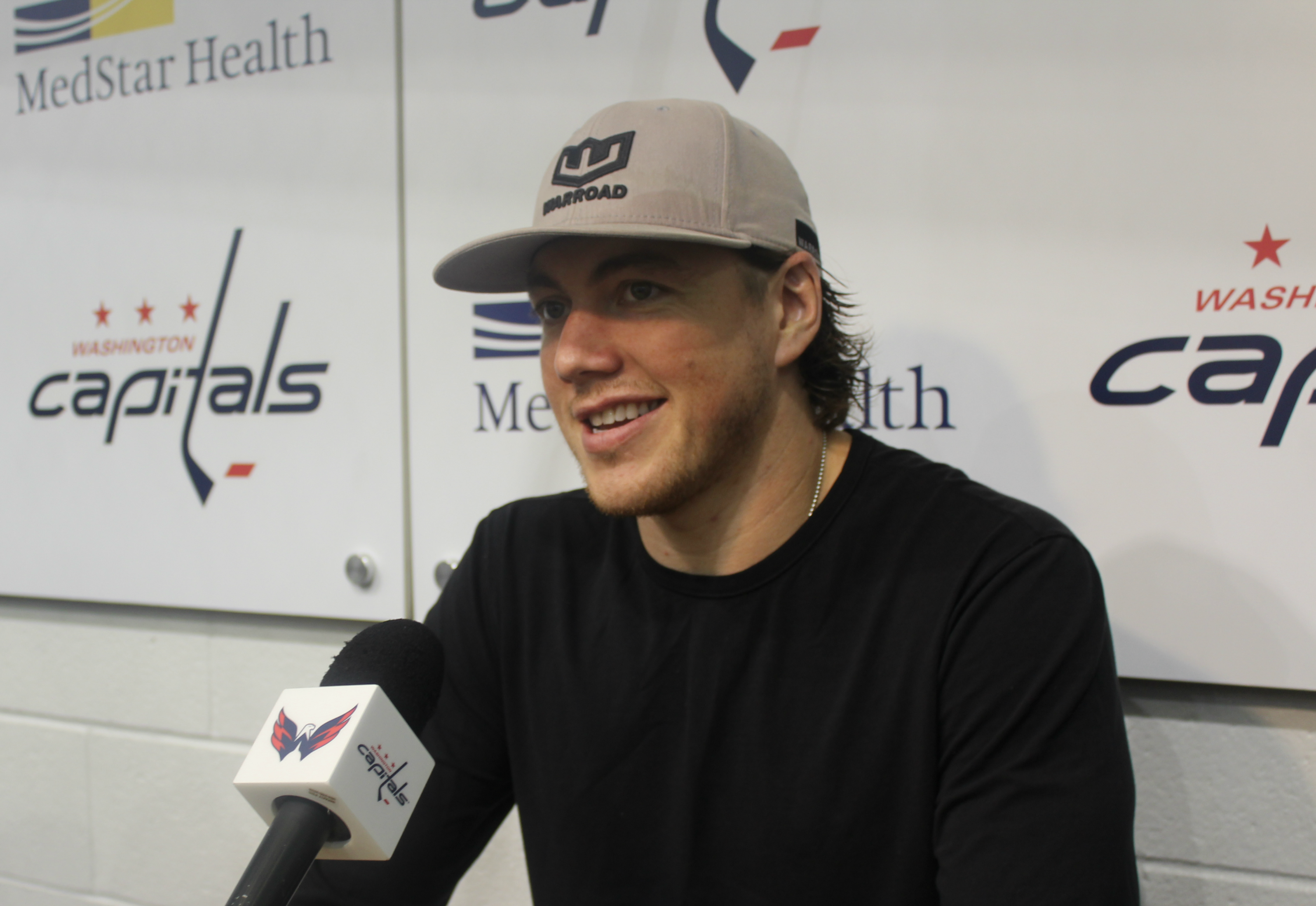 pretty nice 2224c 0aec4 T.J. Oshie keeps getting asked to drink beers through his ...