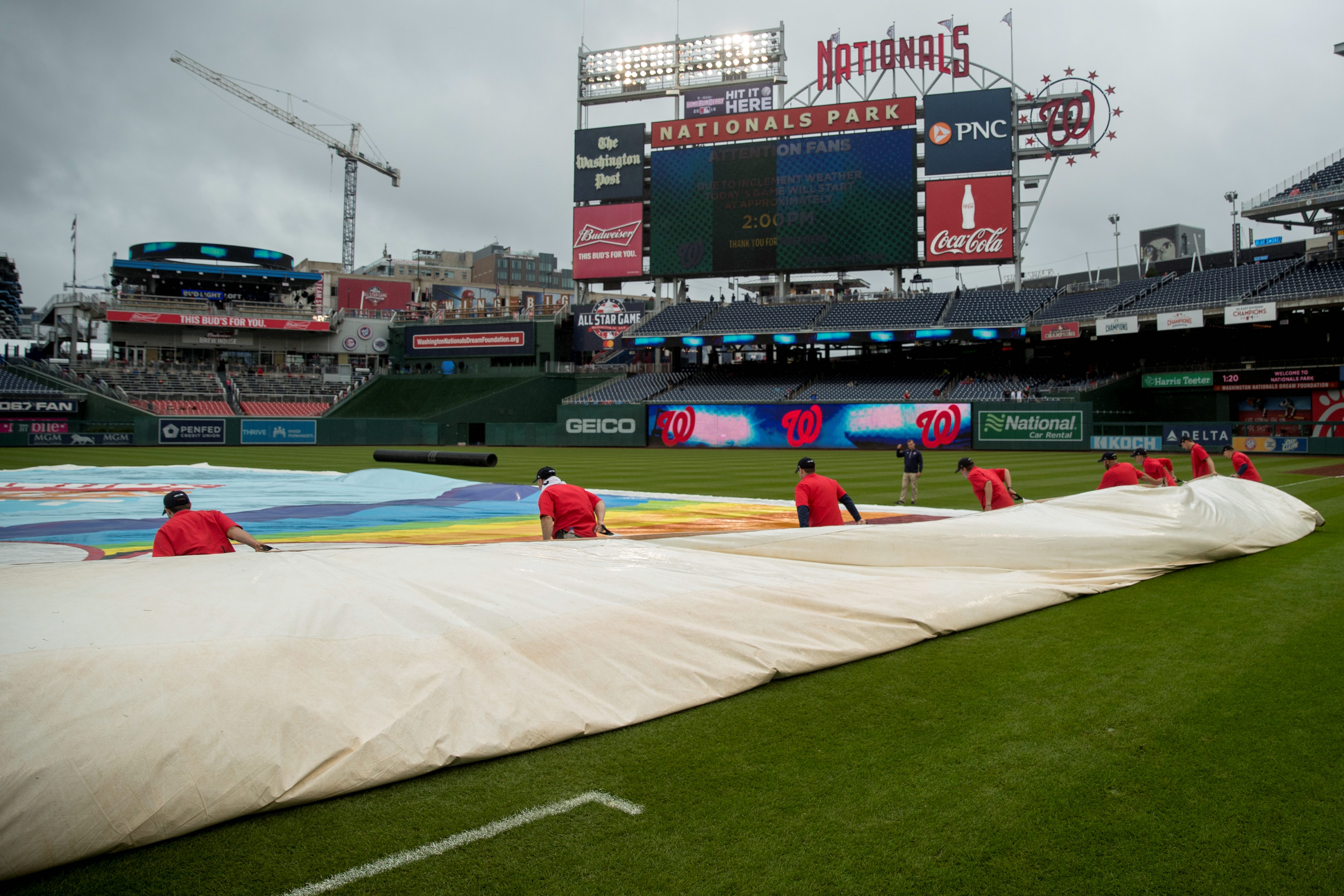 Nationals' first game with Phillies postponed, creating Wednesday doubleheader