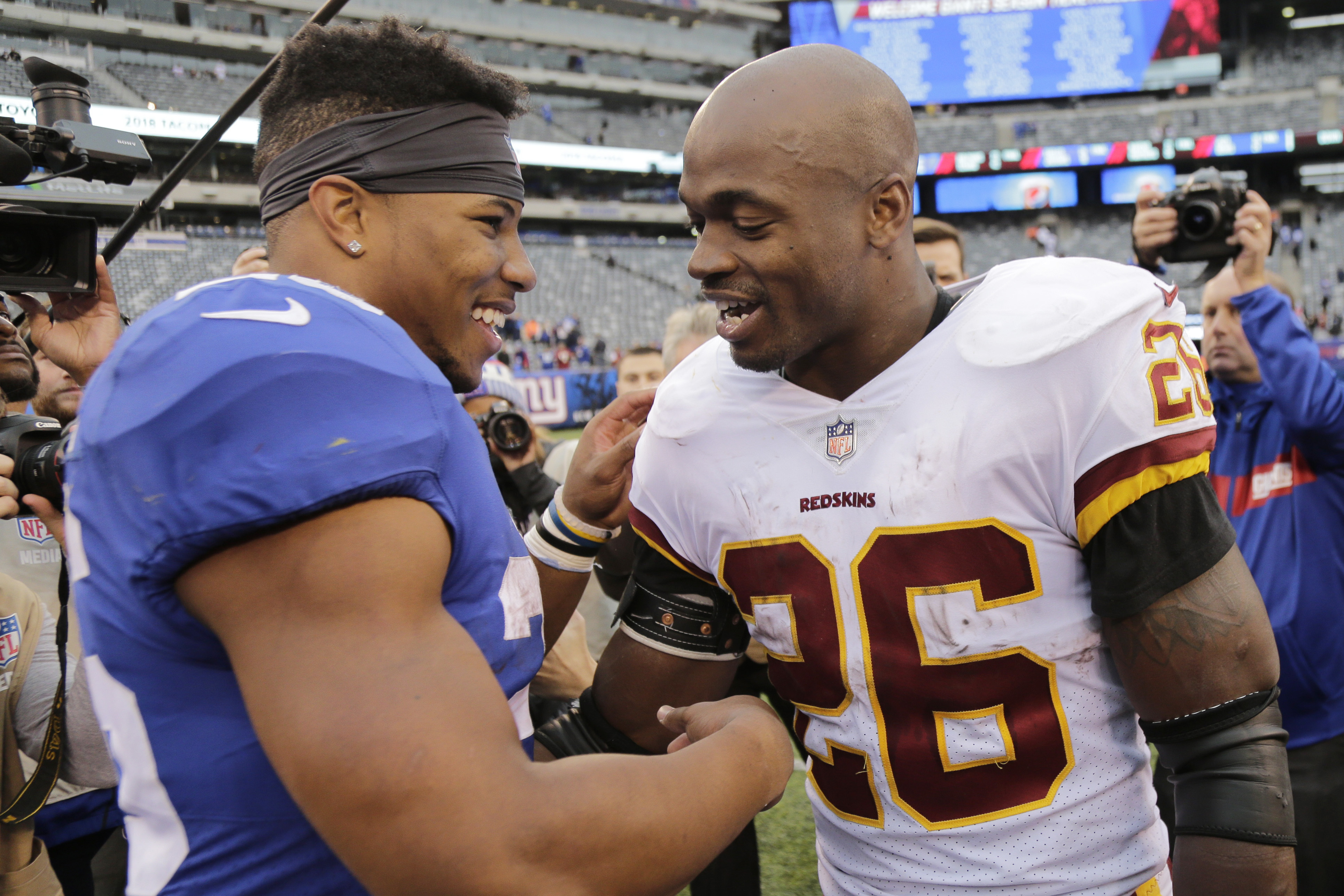 Adrian Peterson to Saquon Barkley   Sky is the limit  - Washington Times 21c482086