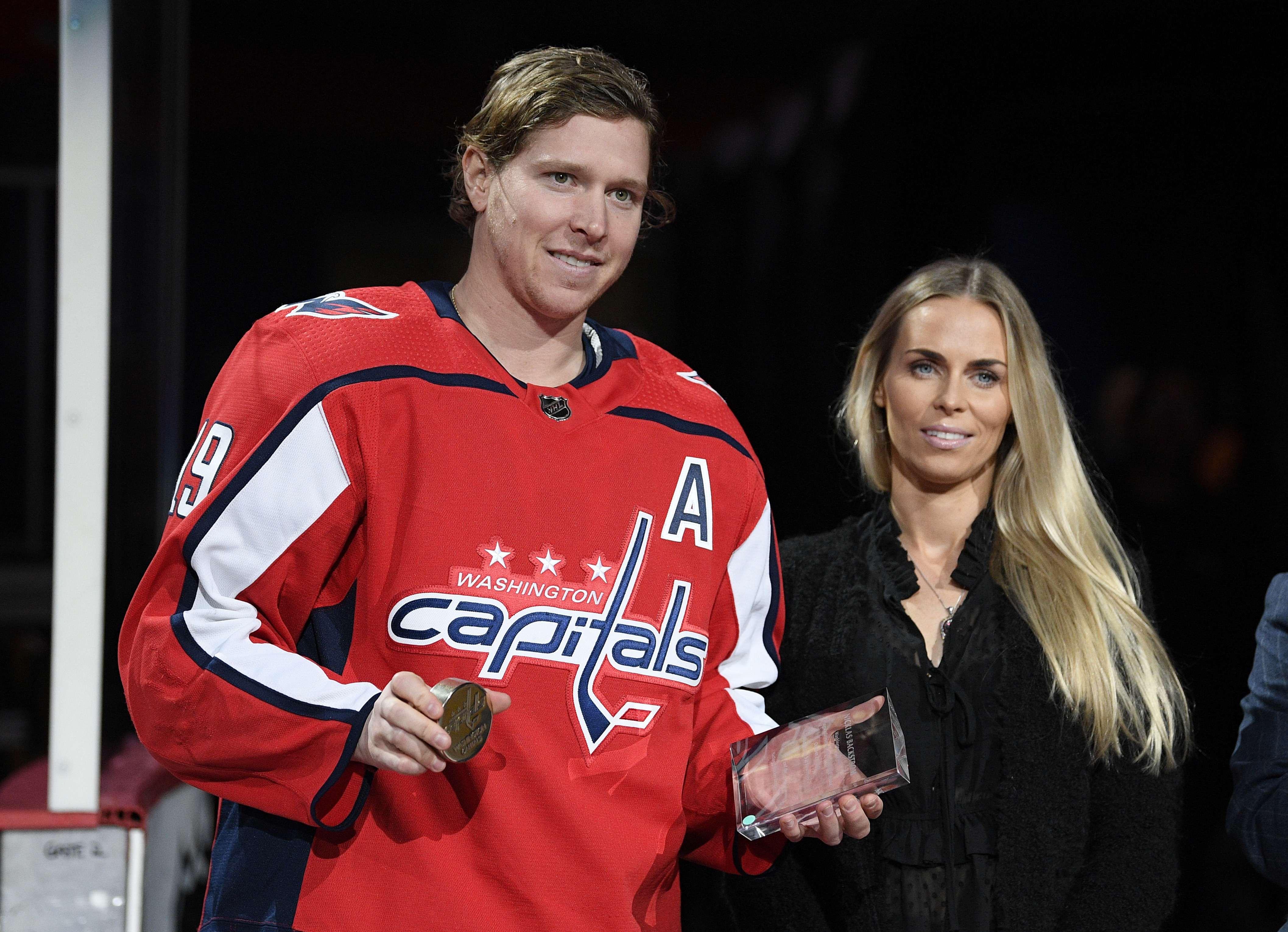 20cbc9c9700 Nicklas Backstrom honored for 600 career assists - Washington Times