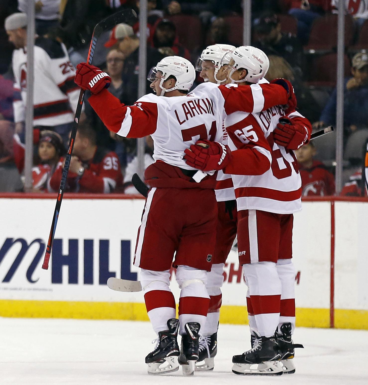 9d173537019 Dylan Larkin scores in OT as Red Wings beat Devils 3-2 - Washington Times