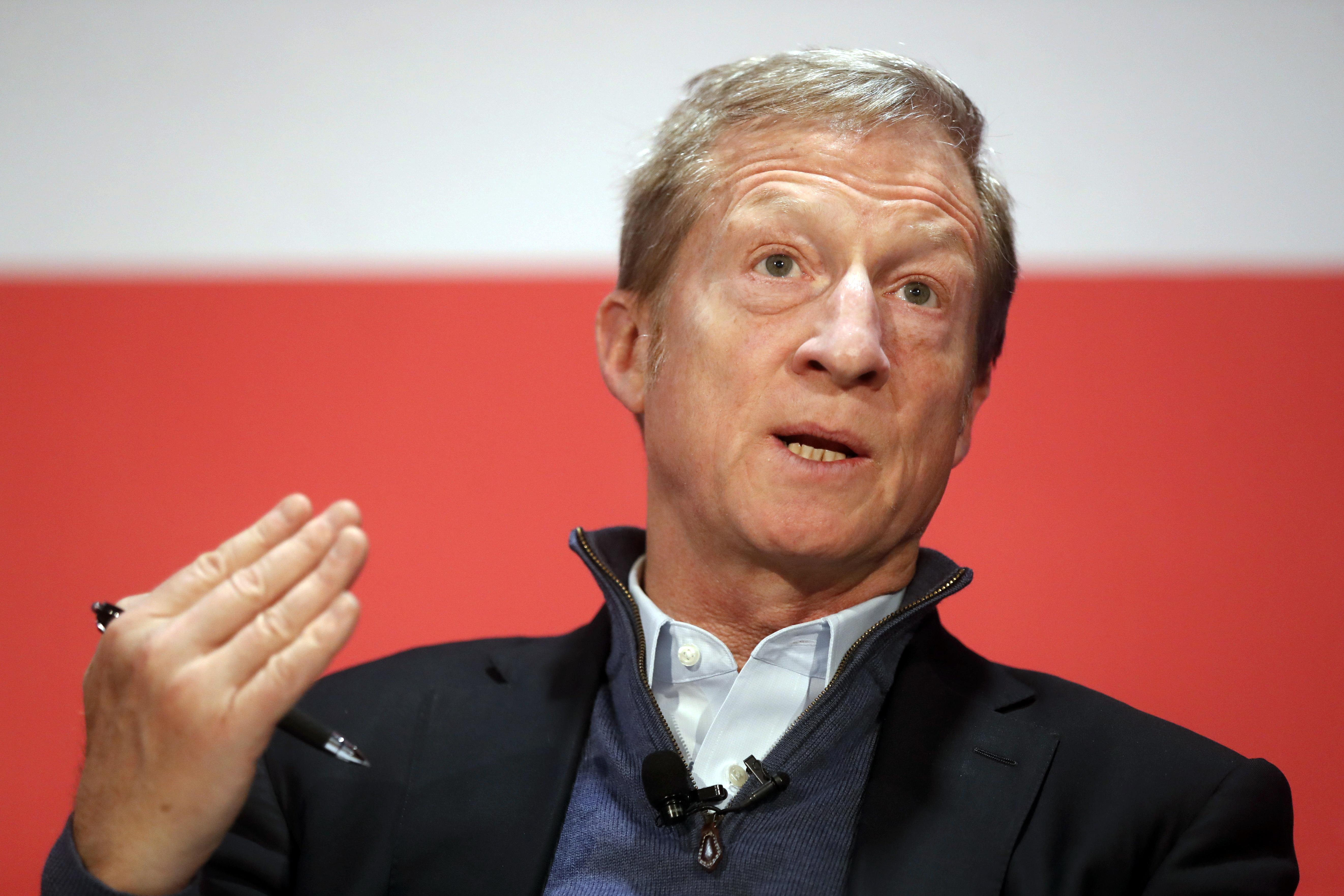 Tom Steyer jumps in race, carting 1960s messages of dandelion love
