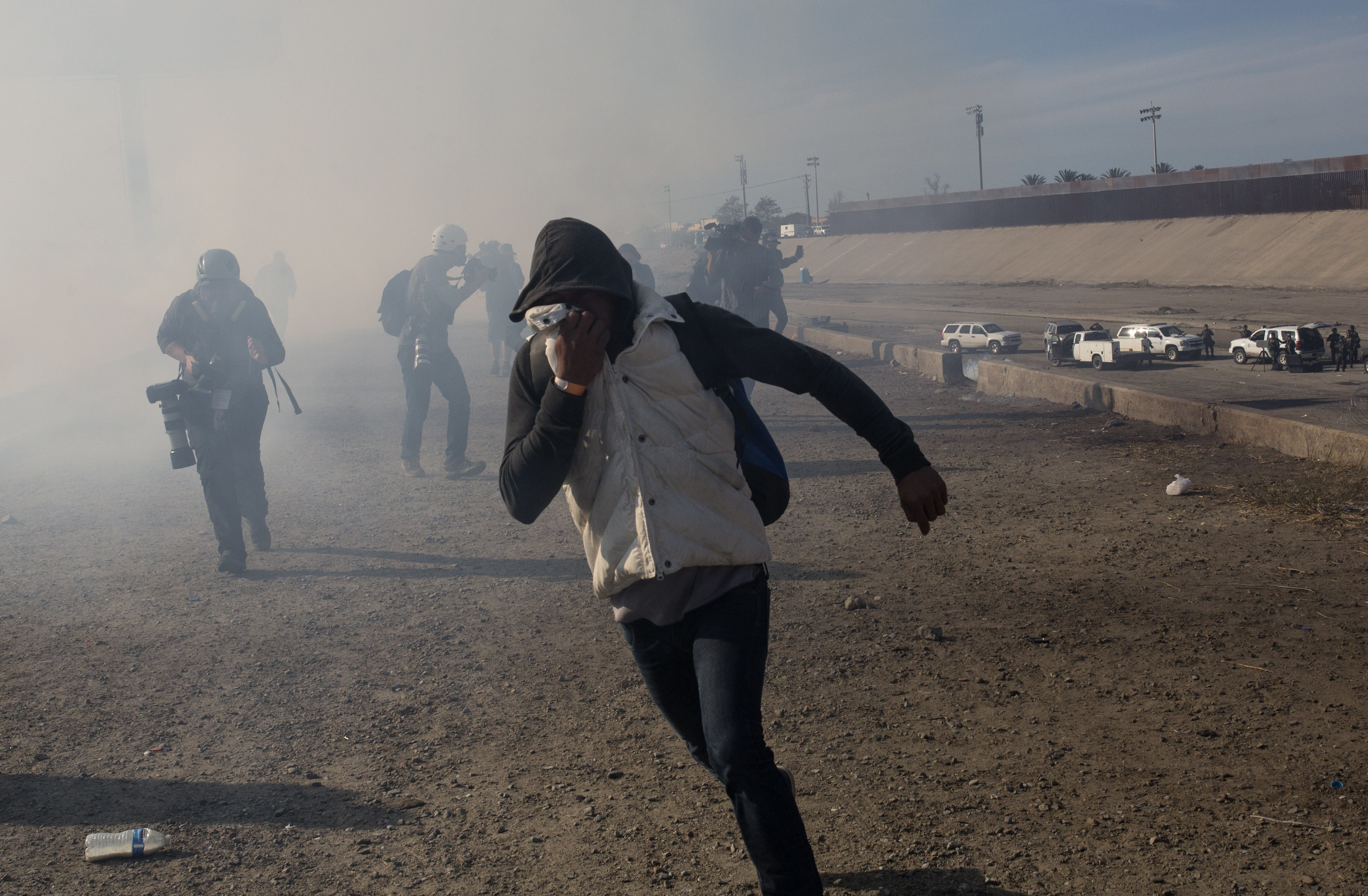 Obama administration used tear gas at border once a month