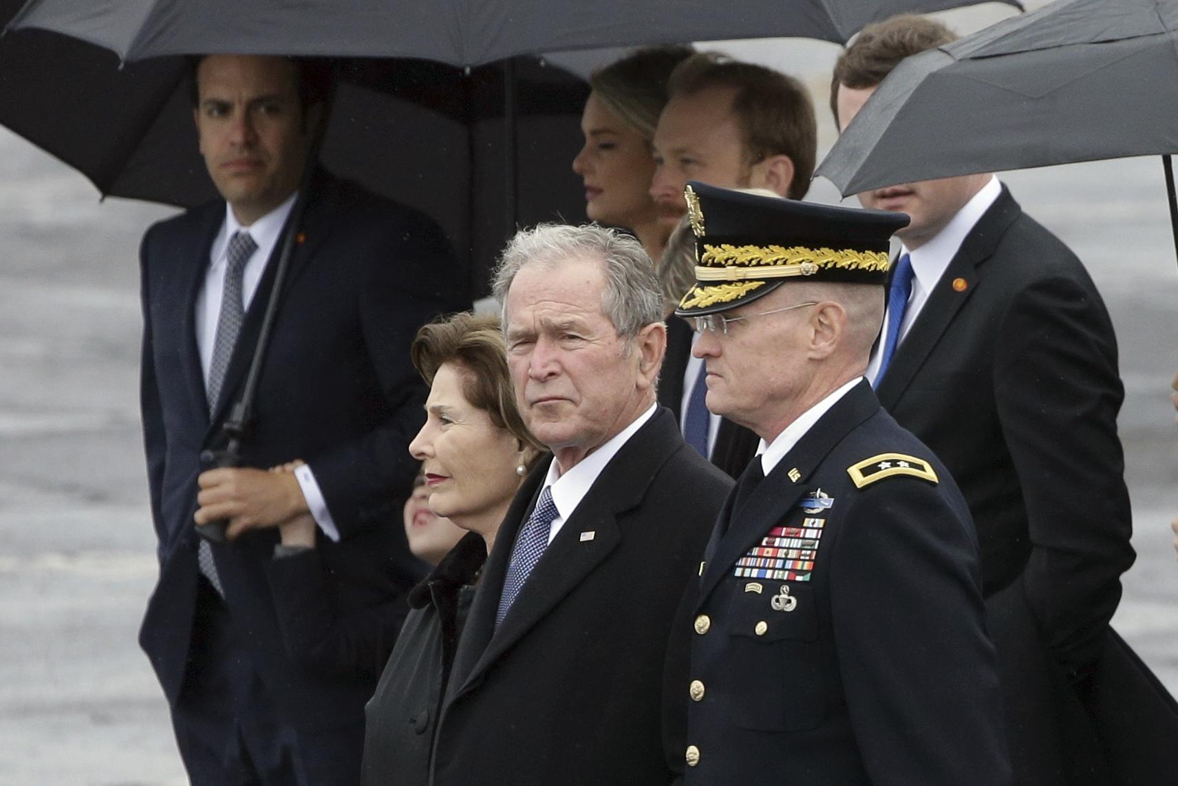 George W. Bush praises borders, calls for immigration amnesty