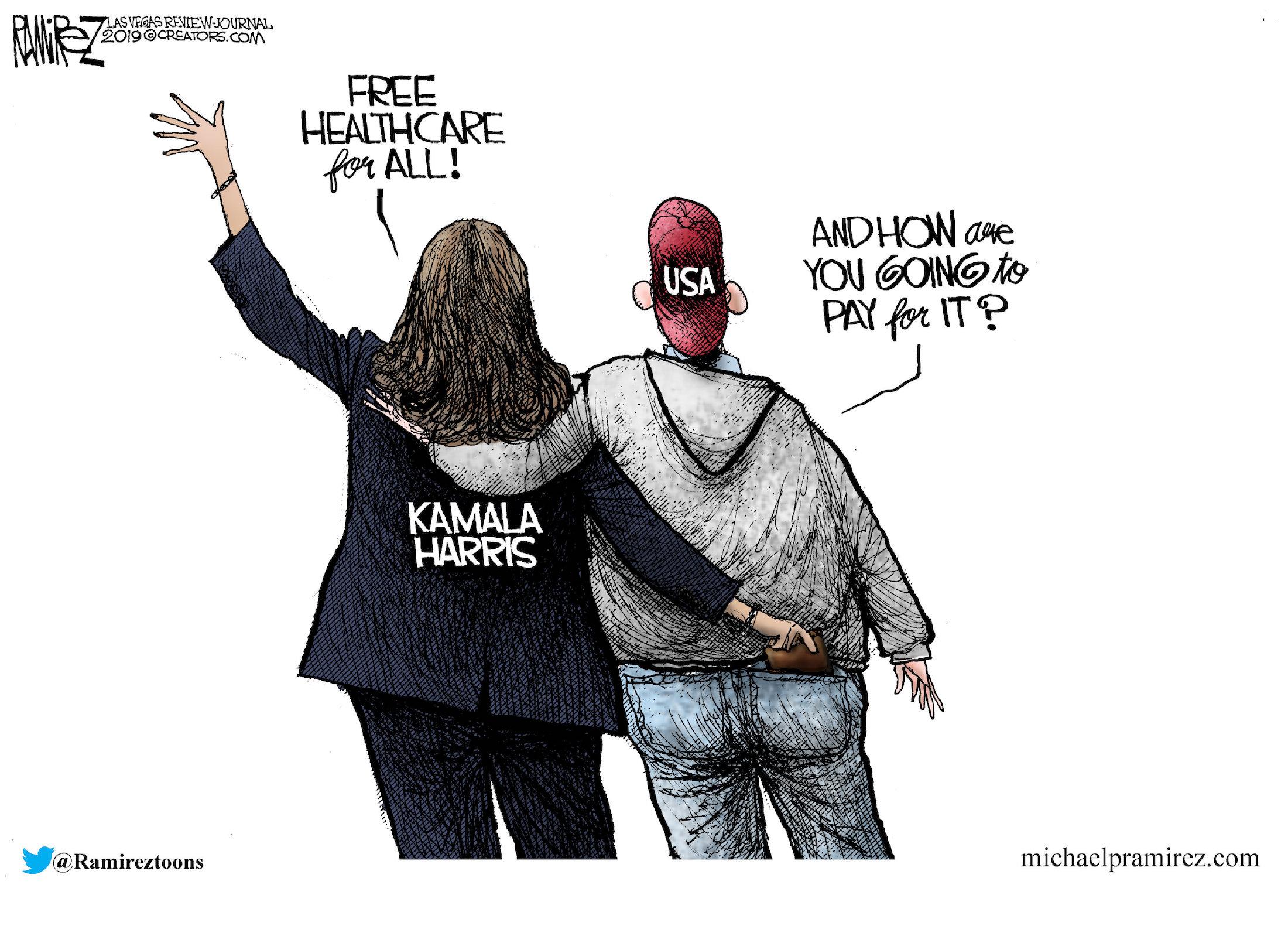 Political Cartoons - Obamacare - Free healthcare for all! - Washington Times