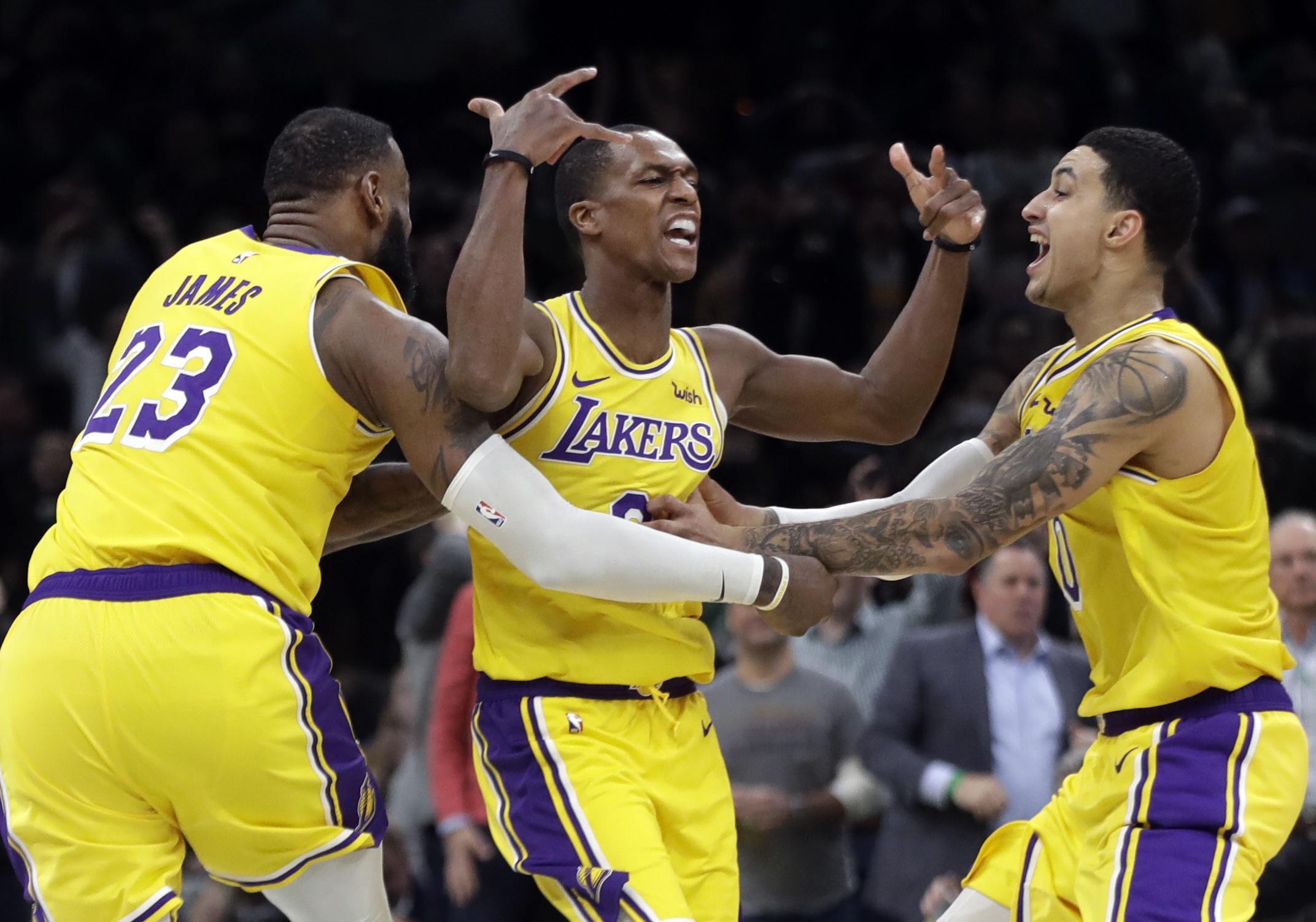 0beacea0 Lakers edge Celtics 129-128 on Rondo's jumper at the buzzer - Washington  Times