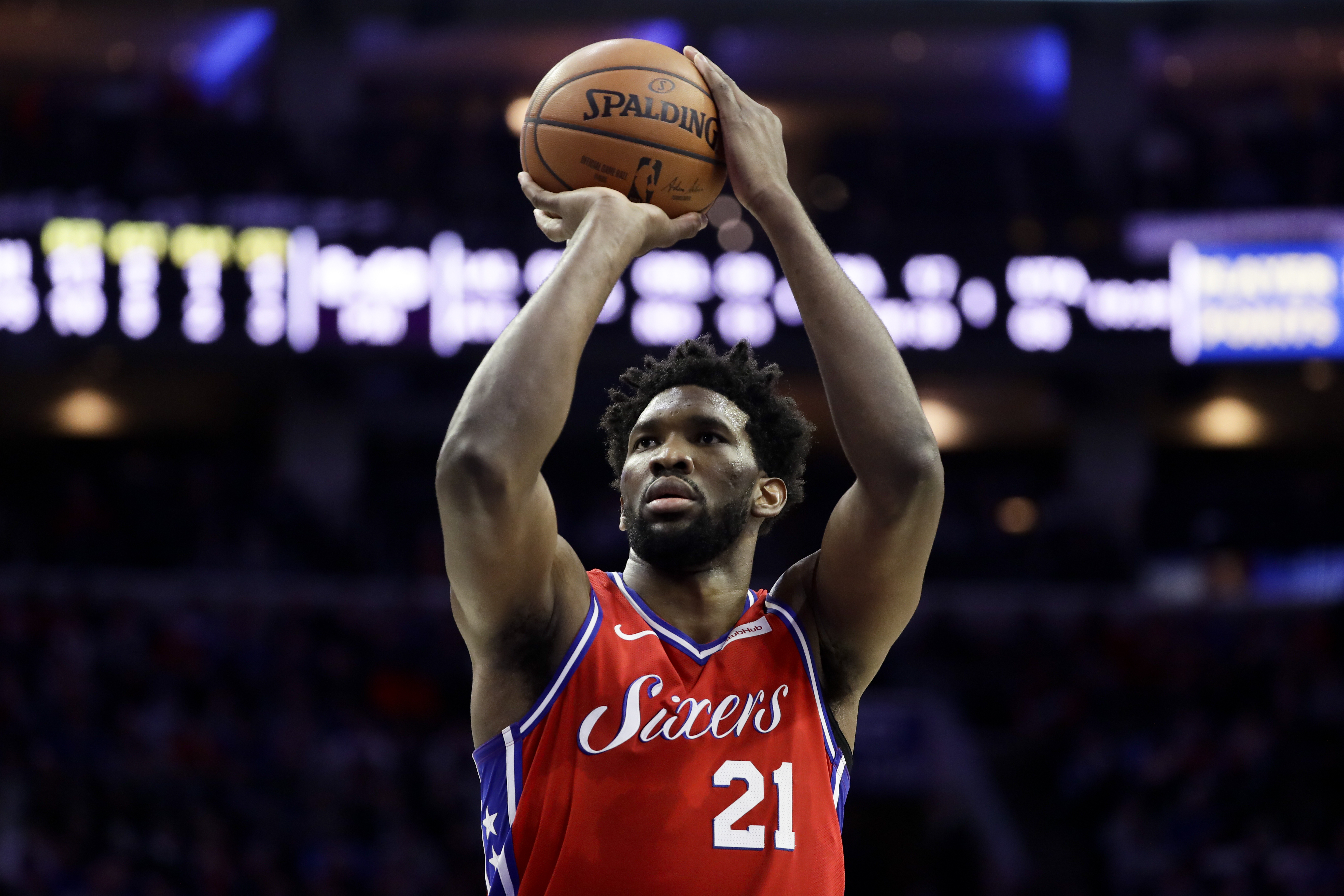 reputable site e999d 16faf Joel Embiid texted injured John Wall to lend support: 'The ...