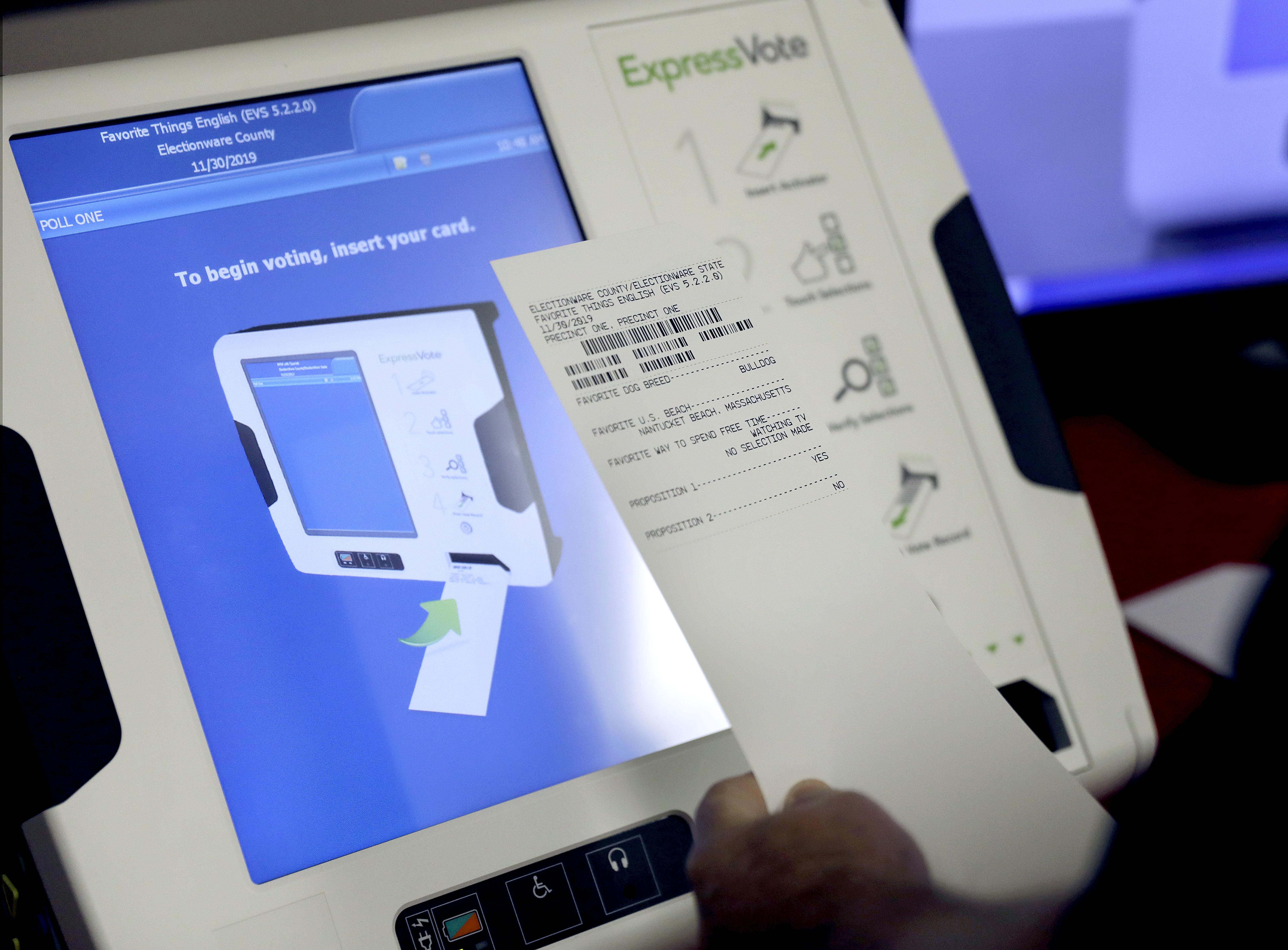 Election security bill requiring paper ballots advanced in House
