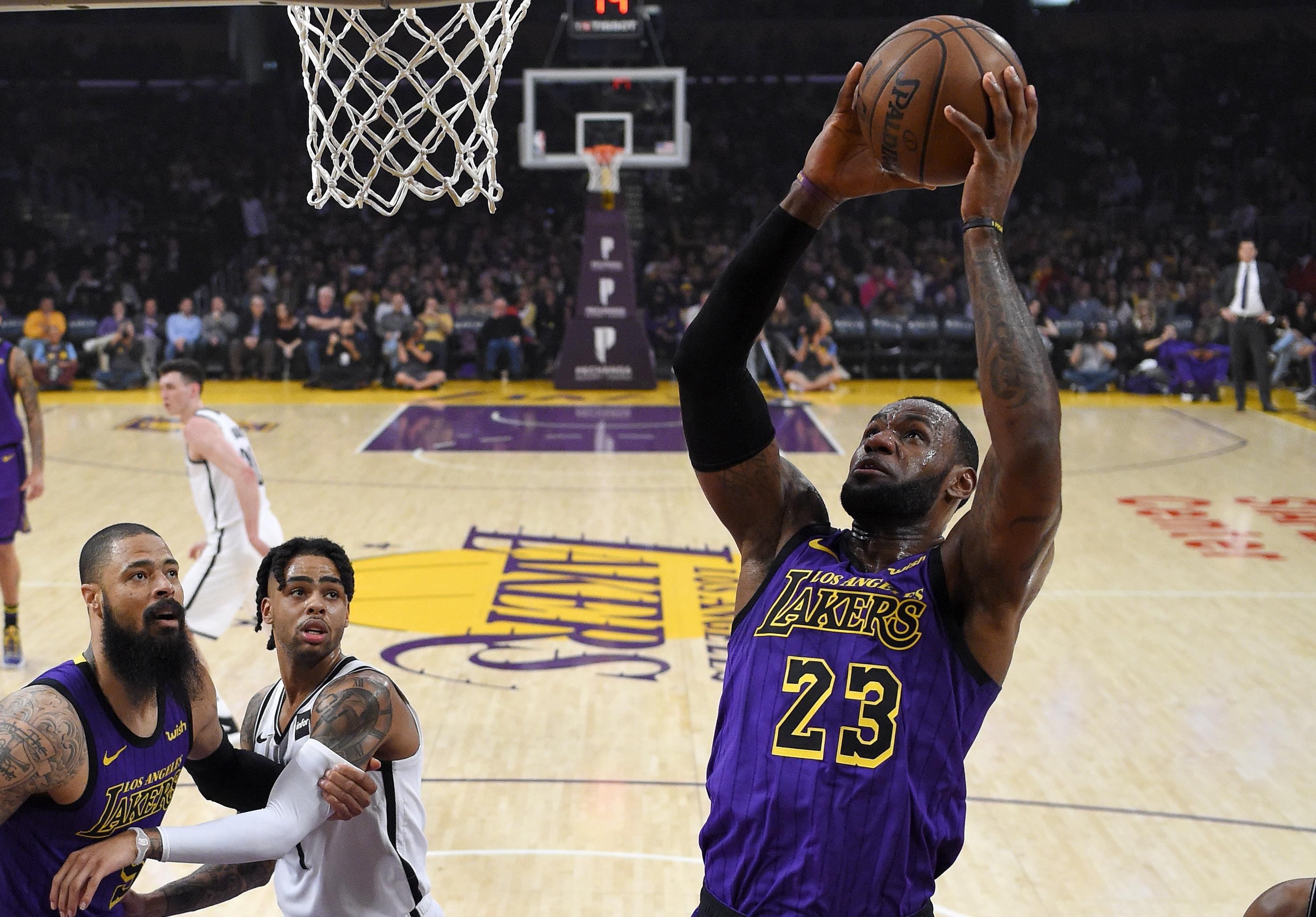 480502beea51 Surging Nets eliminate Lakers from playoff picture