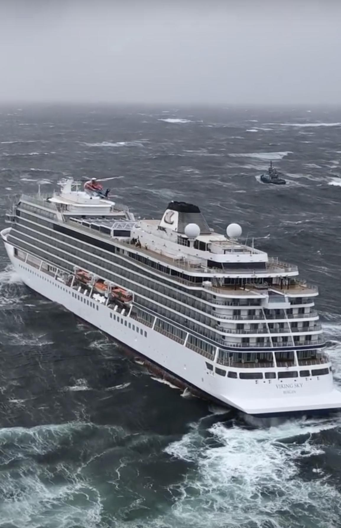 Cruise ship passengers evactuated one-by-one by helicopter after mayday call