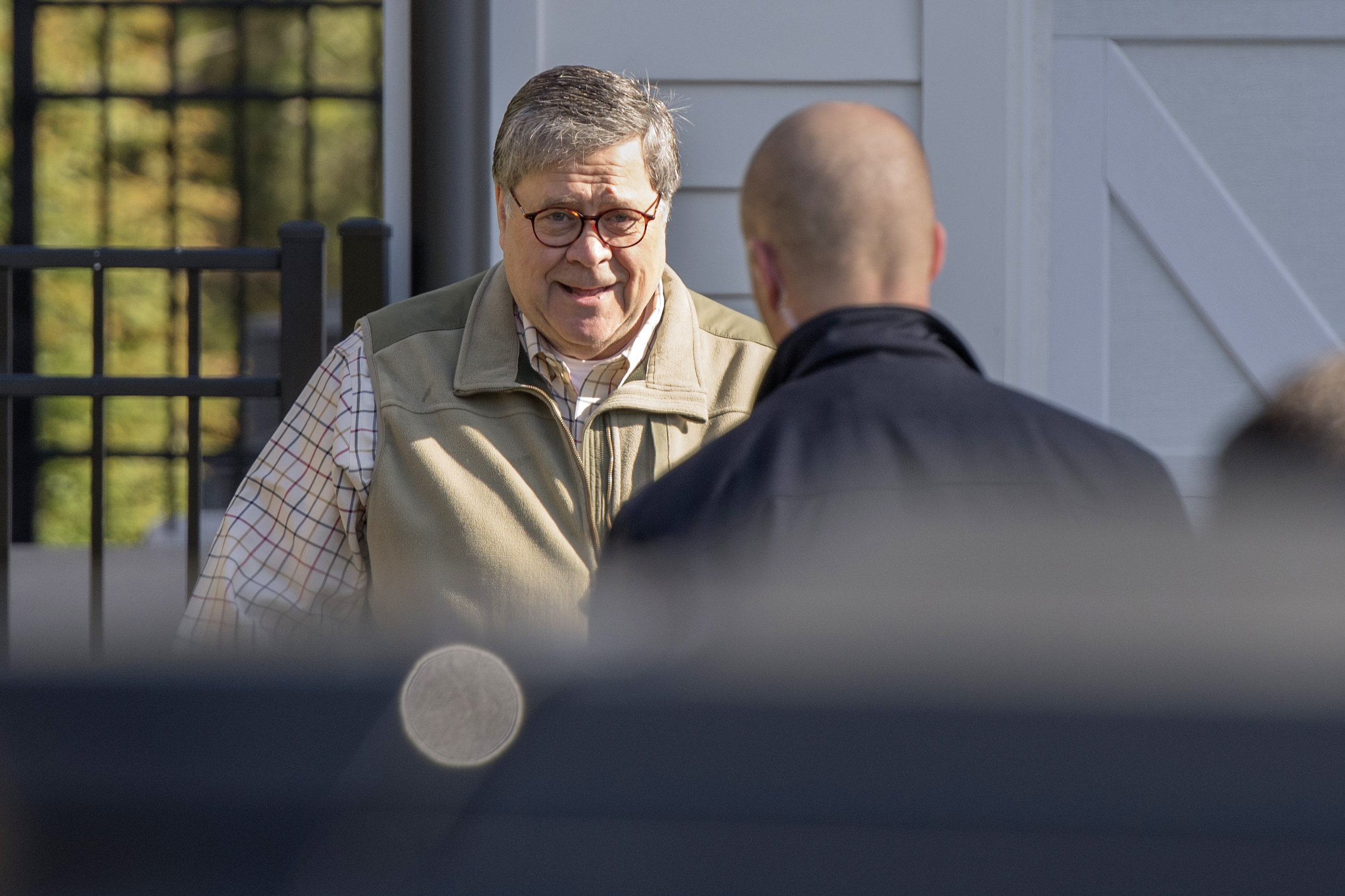 William Barr arrives at Justice Department as speculation swirls around Mueller report