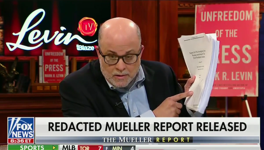 Mark Levin rips Mueller 'op-ed' written for 'slip-and-fall' lawyers, media: 'Volume two is crap'