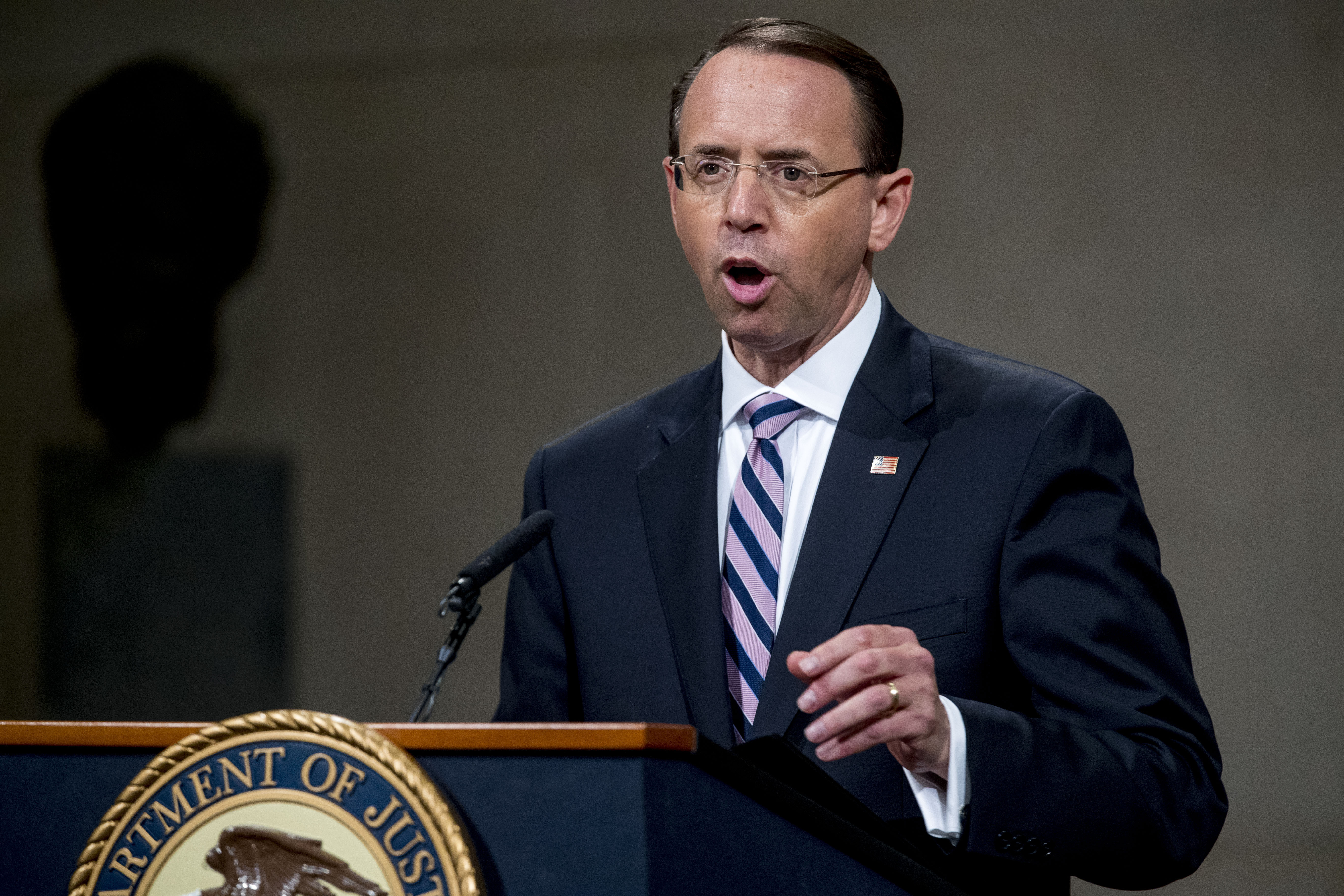 Rod Rosenstein plotted Trump coup, Judicial Watch says