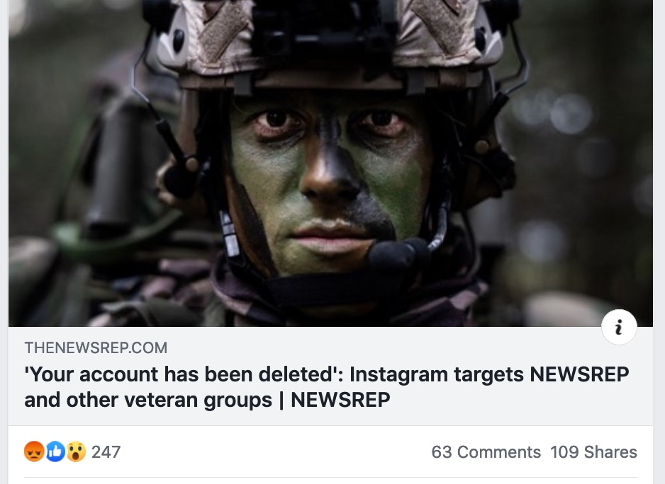 Instagram deletes popular military page run by Special Forces vet: 'We need your help'