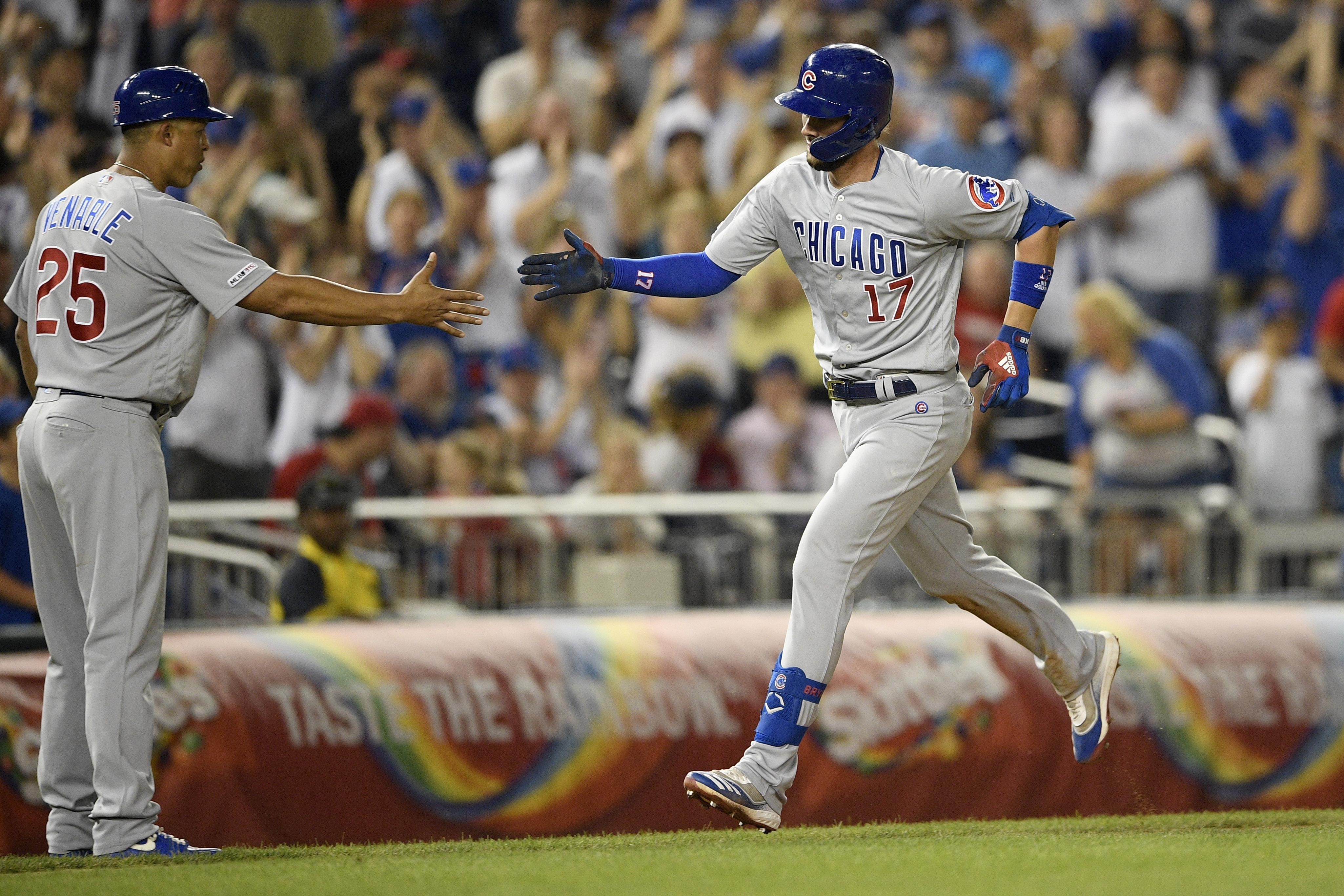 Kris Bryant hits 3 HRs, Cubs punish Nats' bullpen for