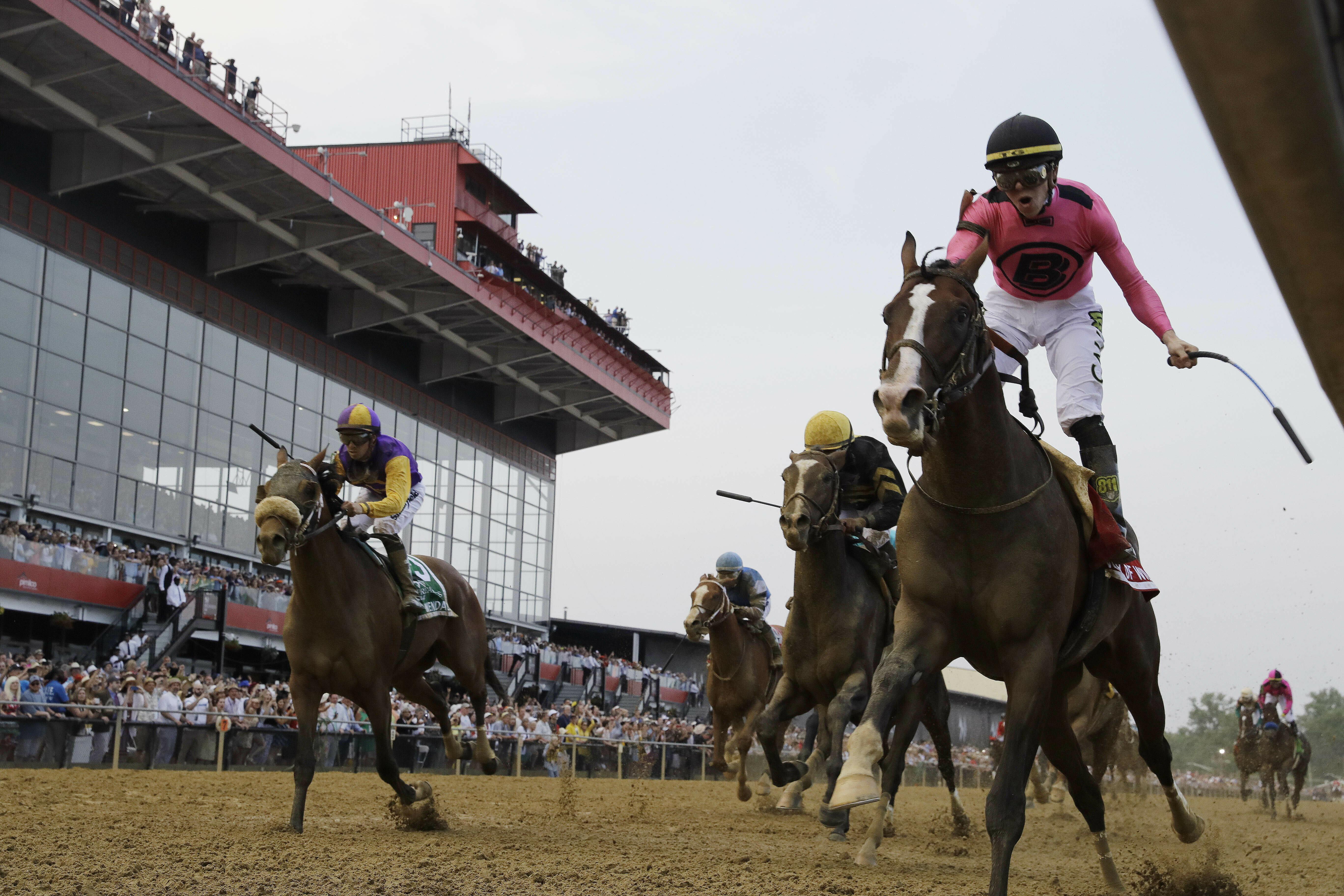 War of Will wins Preakness, also featuring a riderless running horse