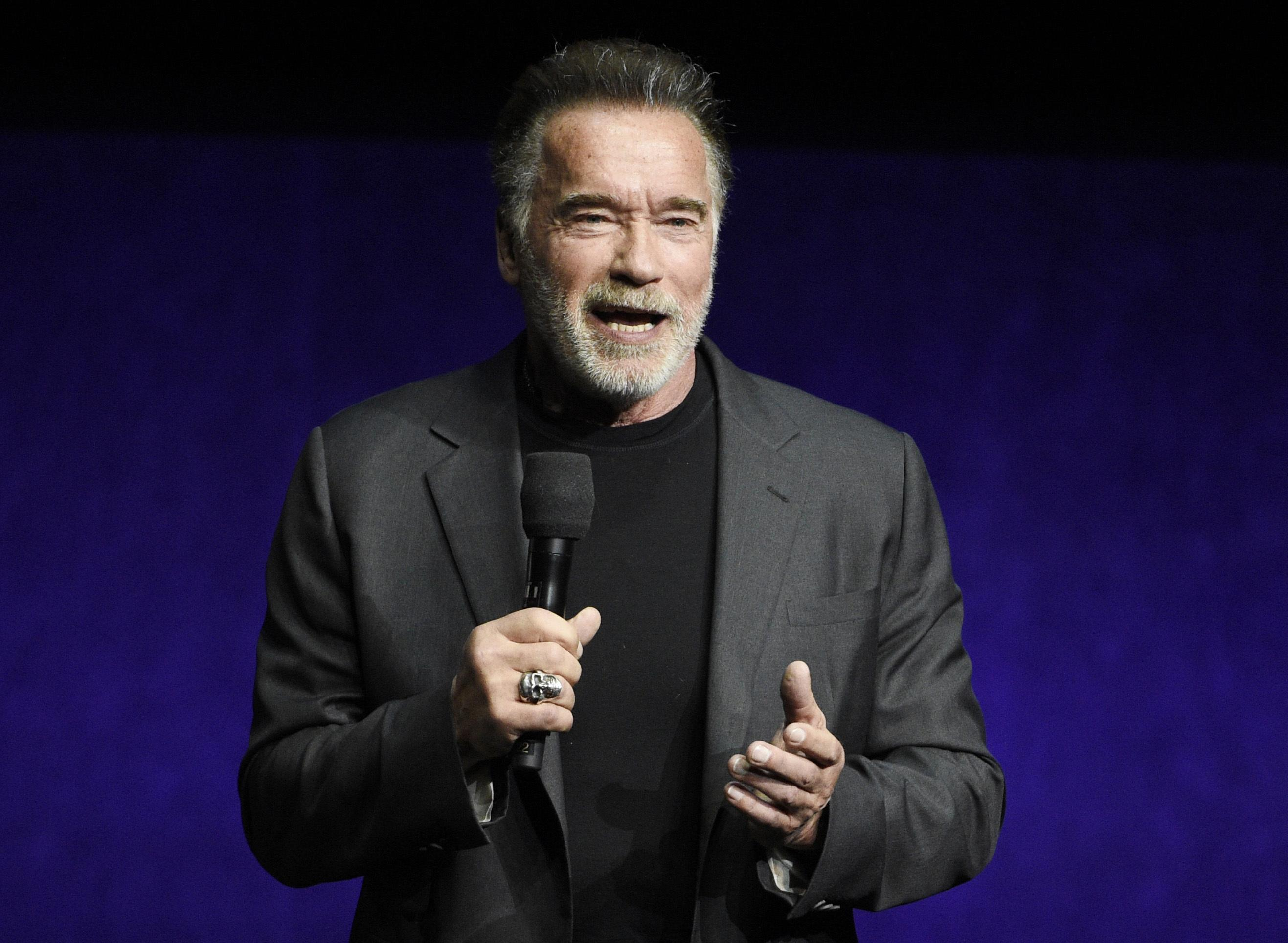 Arnold Schwarzenegger dropkicked from behind during South African sports event