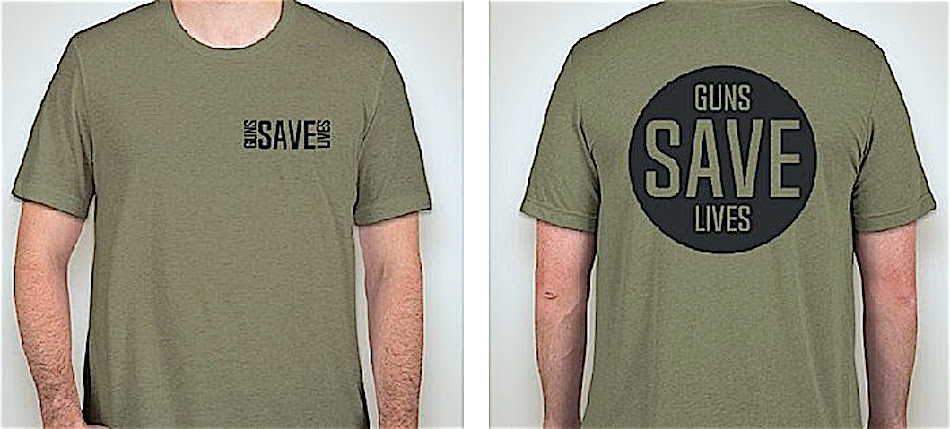 Libertarian Party introduces 'Guns Save Lives' campaign T-shirts