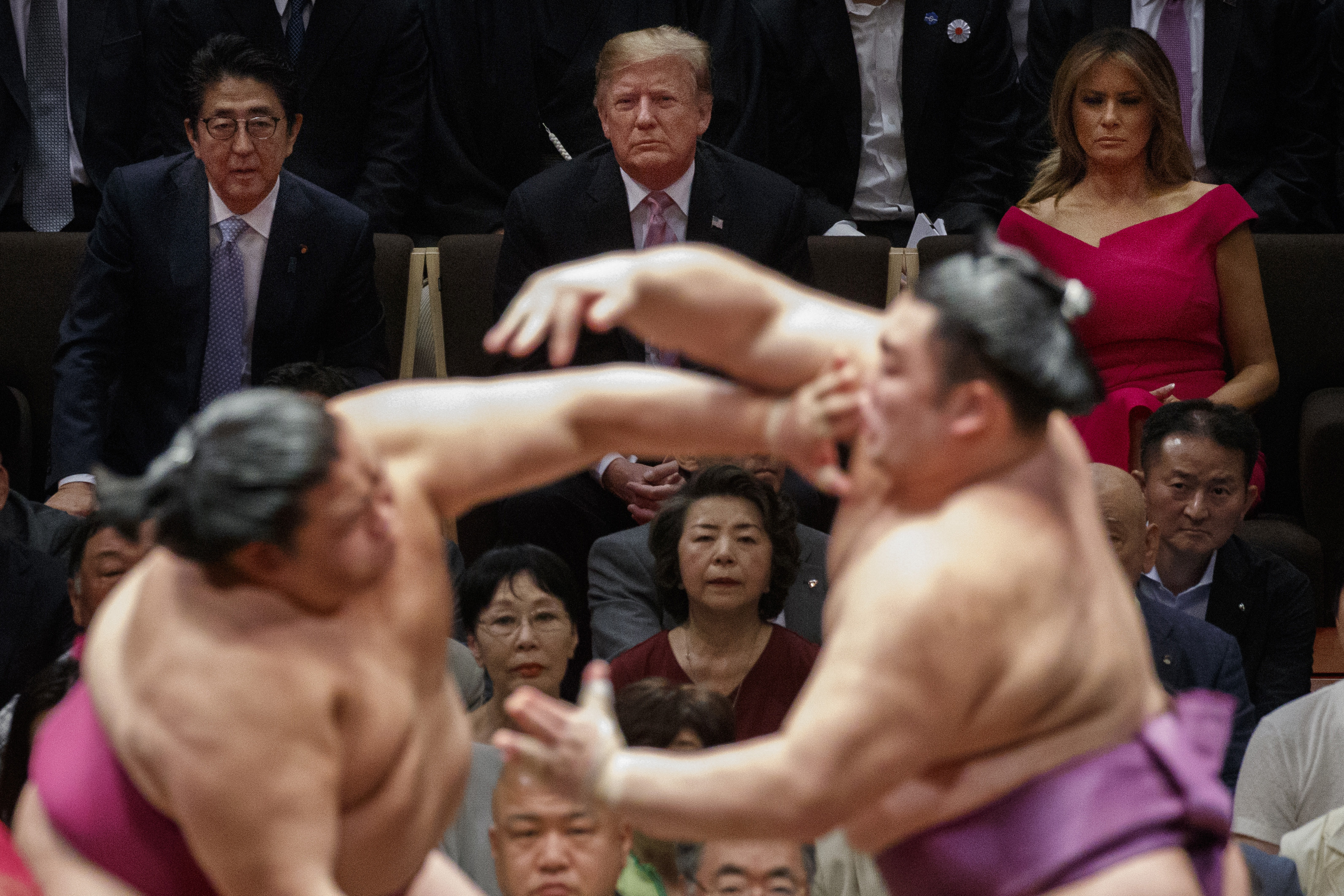 Trump, Abe engage in golf diplomacy, take in sumo tourney