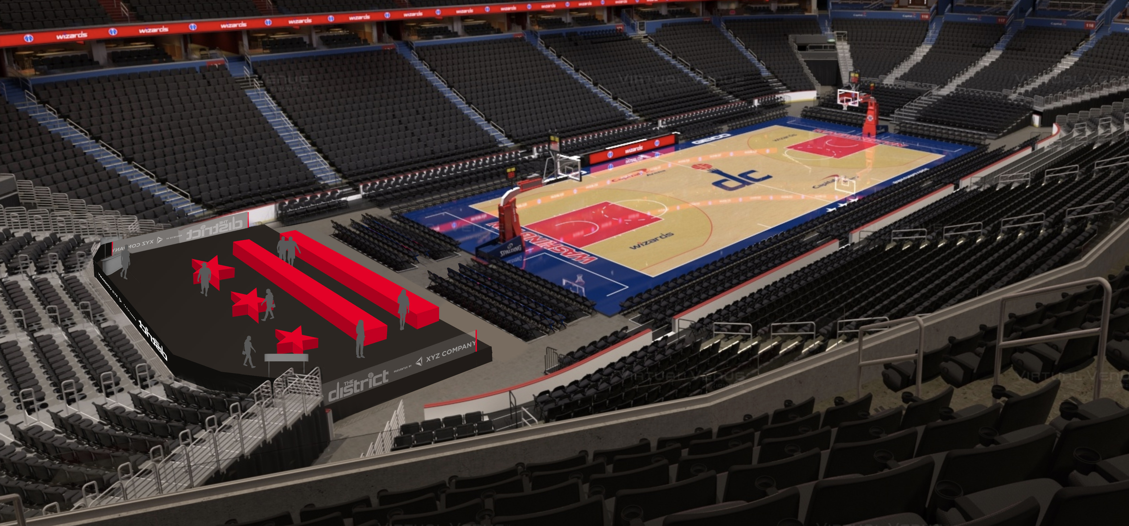 Wizards to create courtside patio area called 'The District'