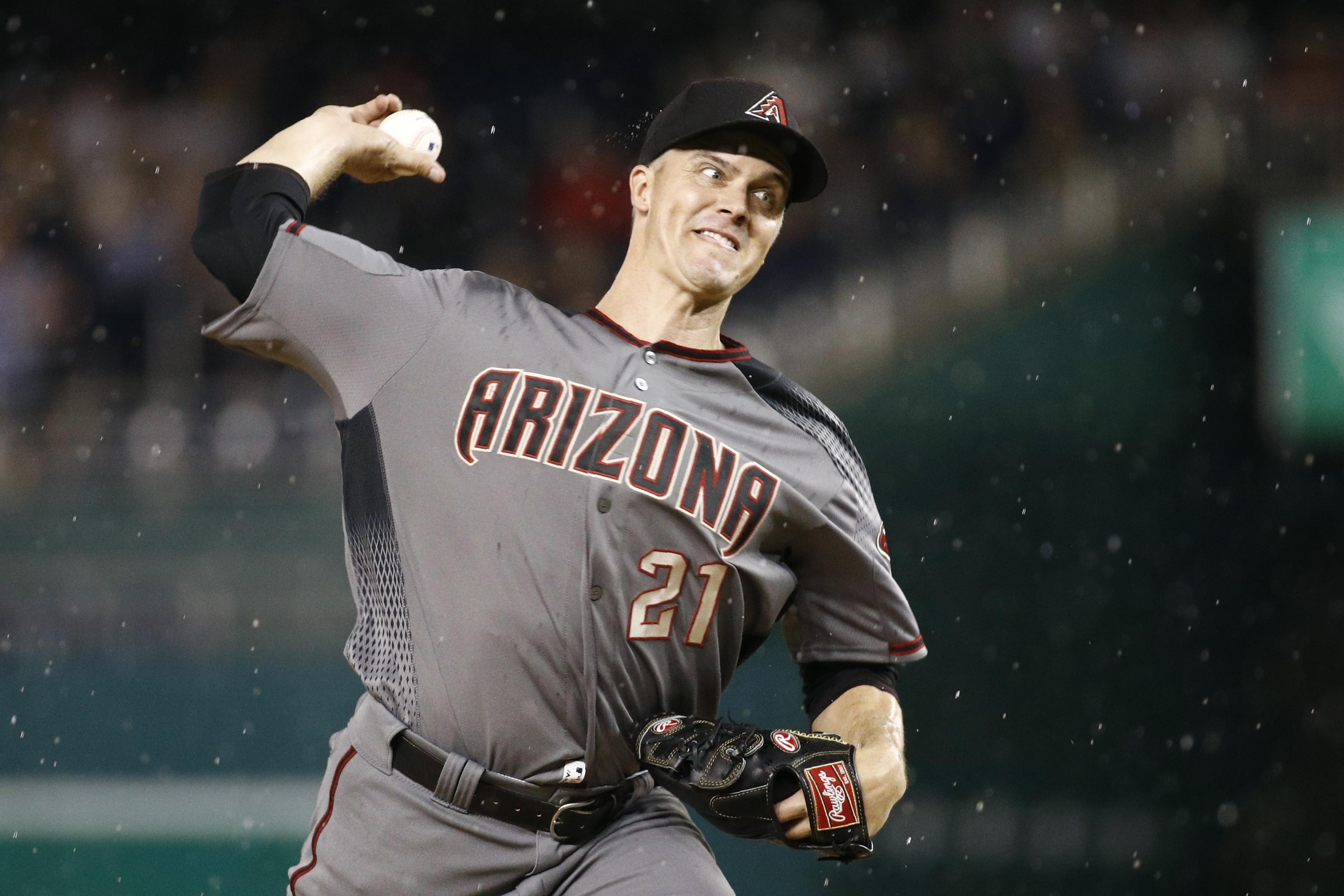Greinke takes no-hitter into 7th, Diamondbacks beat Nats 5-0