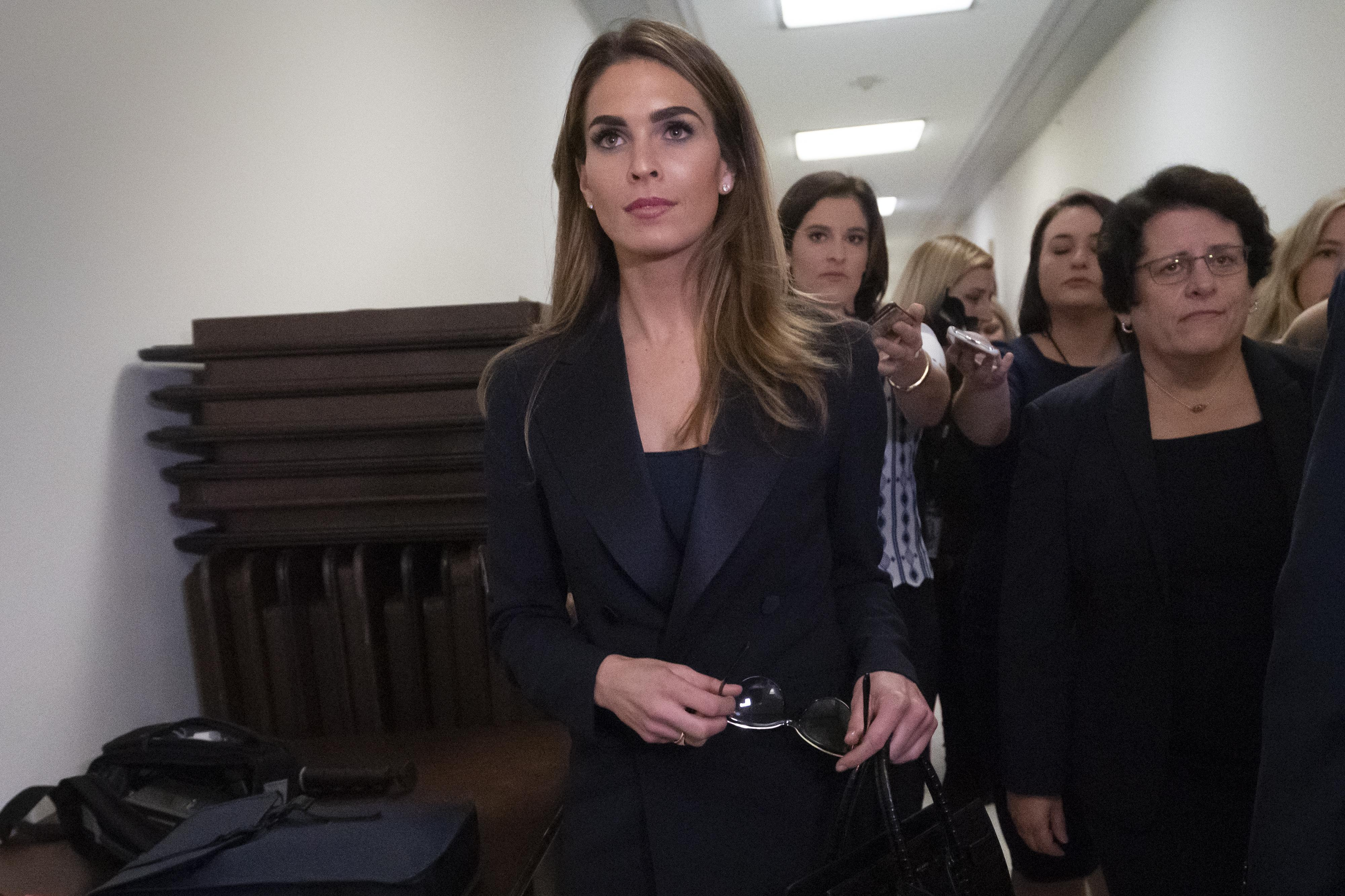 'That's a big jump': Hope Hicks tells lawmakers hacked Clinton emails didn't boost Trump campaign
