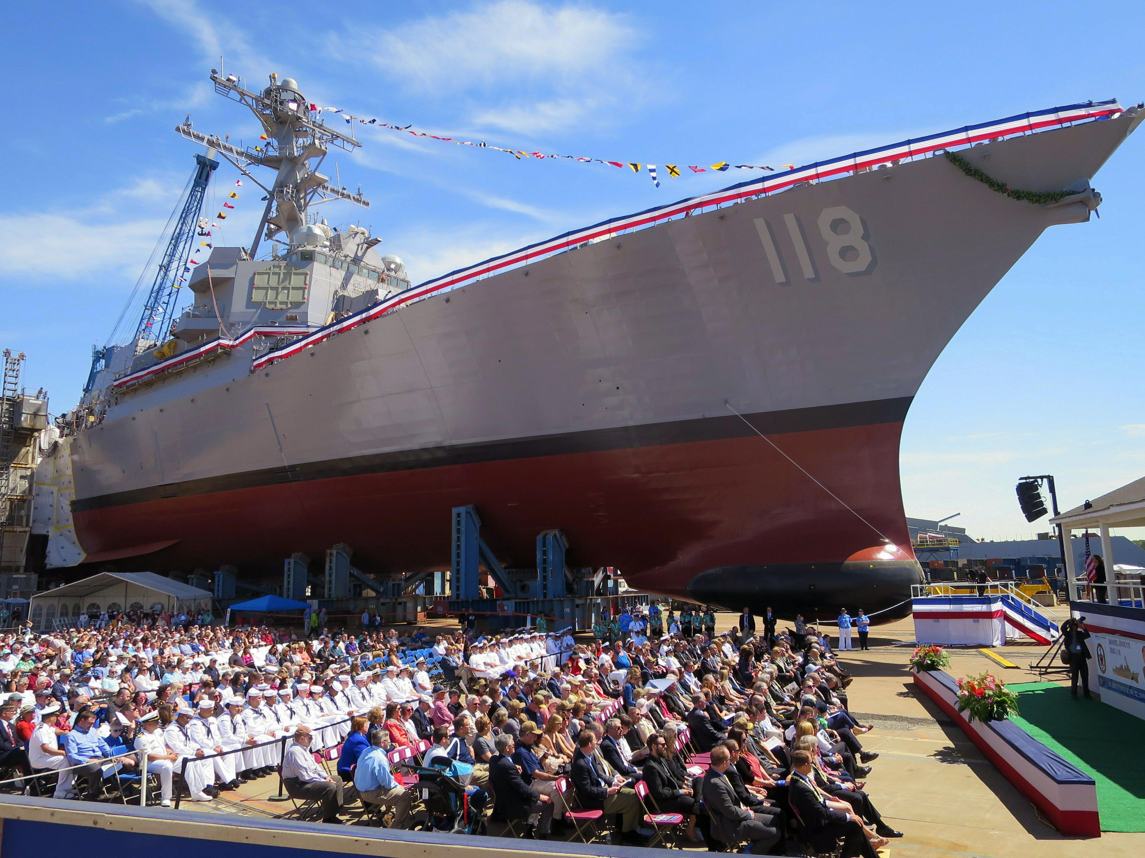 22 arrested outside christening of USS Daniel Inouye