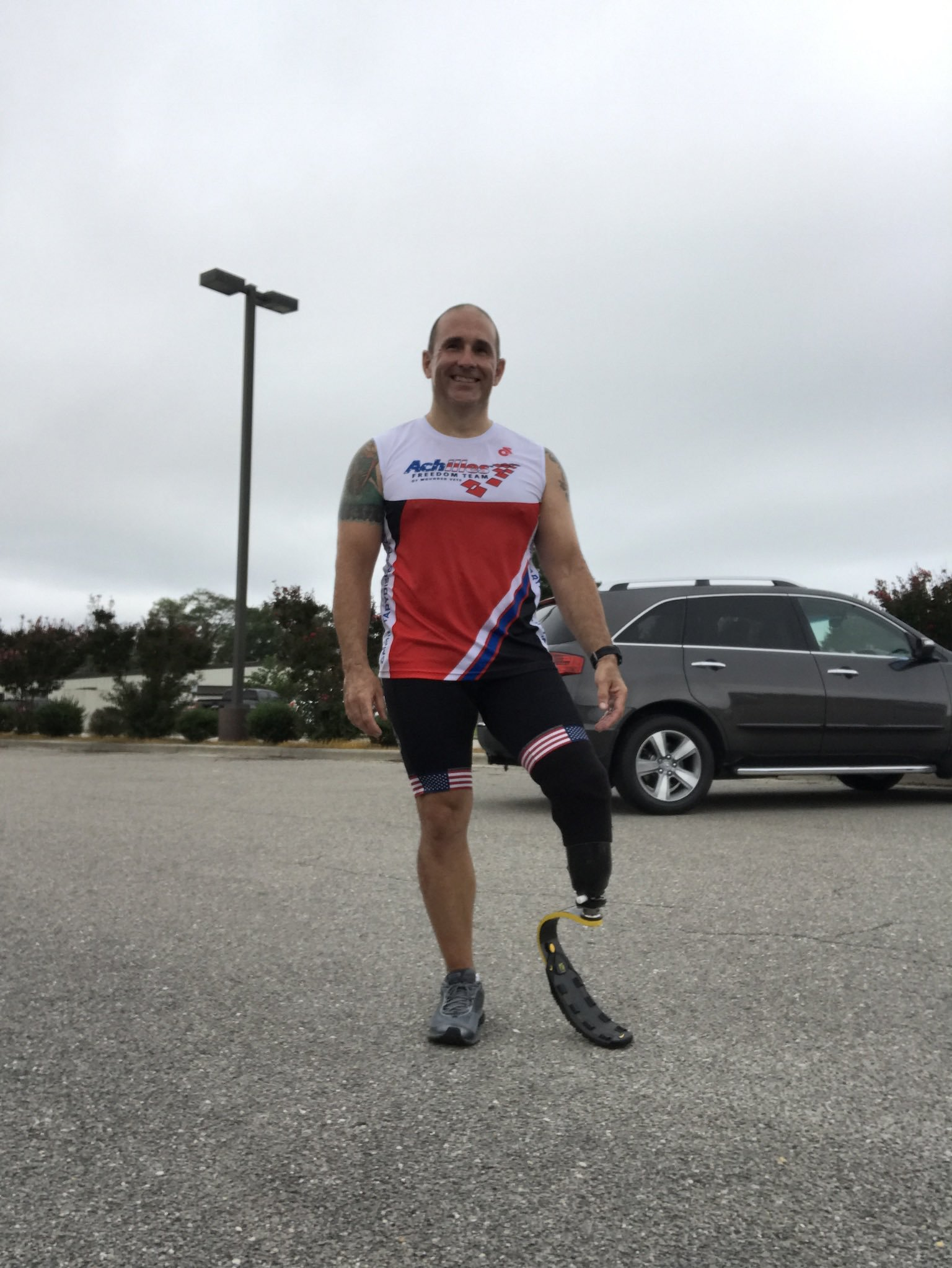 Wounded warrior Jay Collins completes cross-country charity barbecue t