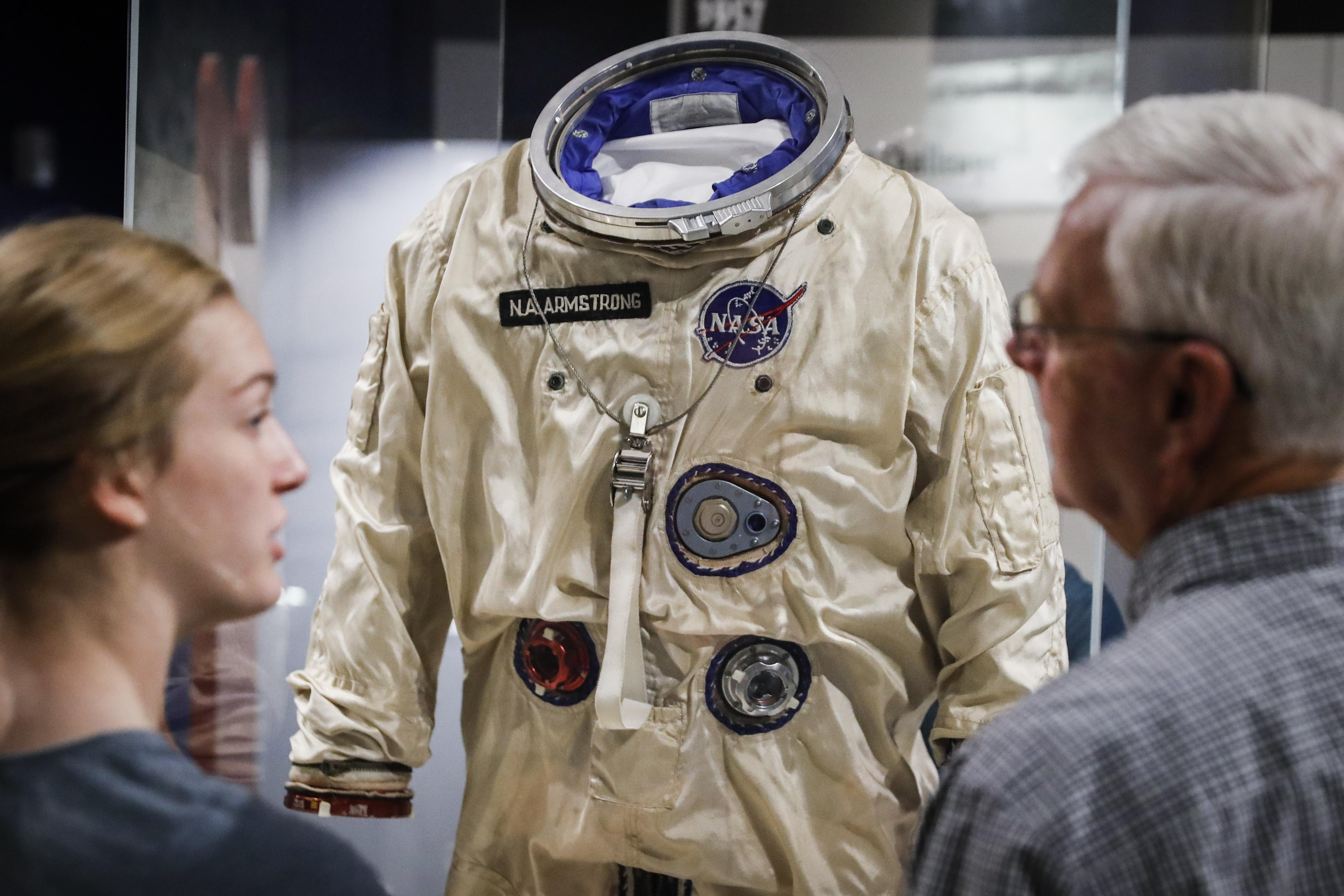 dfa72165 New statues, education center honor Neil Armstrong in Ohio - Washington  Times