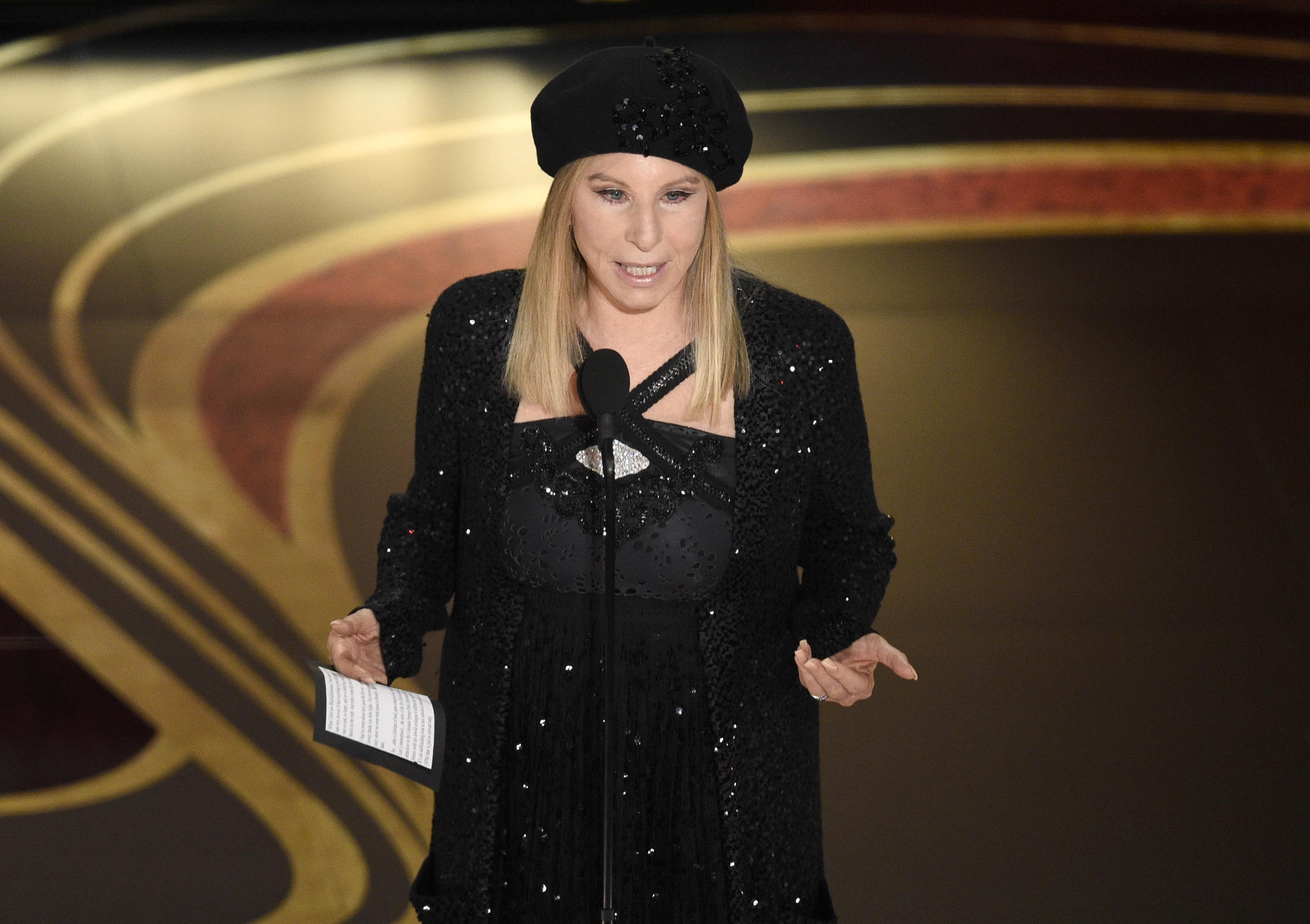 Barbra Streisand tweets cartoon of Trump being impaled by Pelosi's stilettos