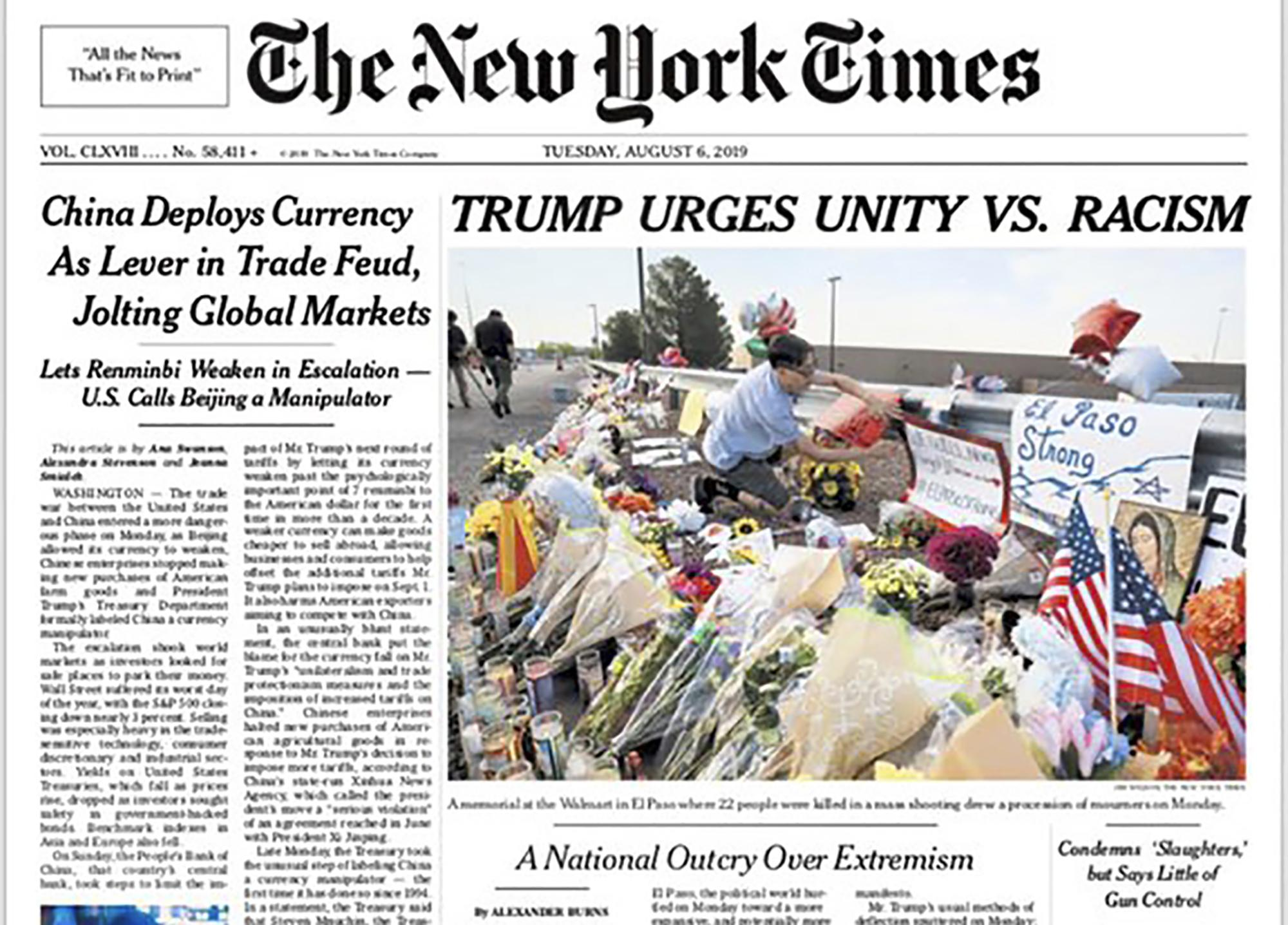 The Nation warns progressives that The New York Times 'won't save us from Trump'