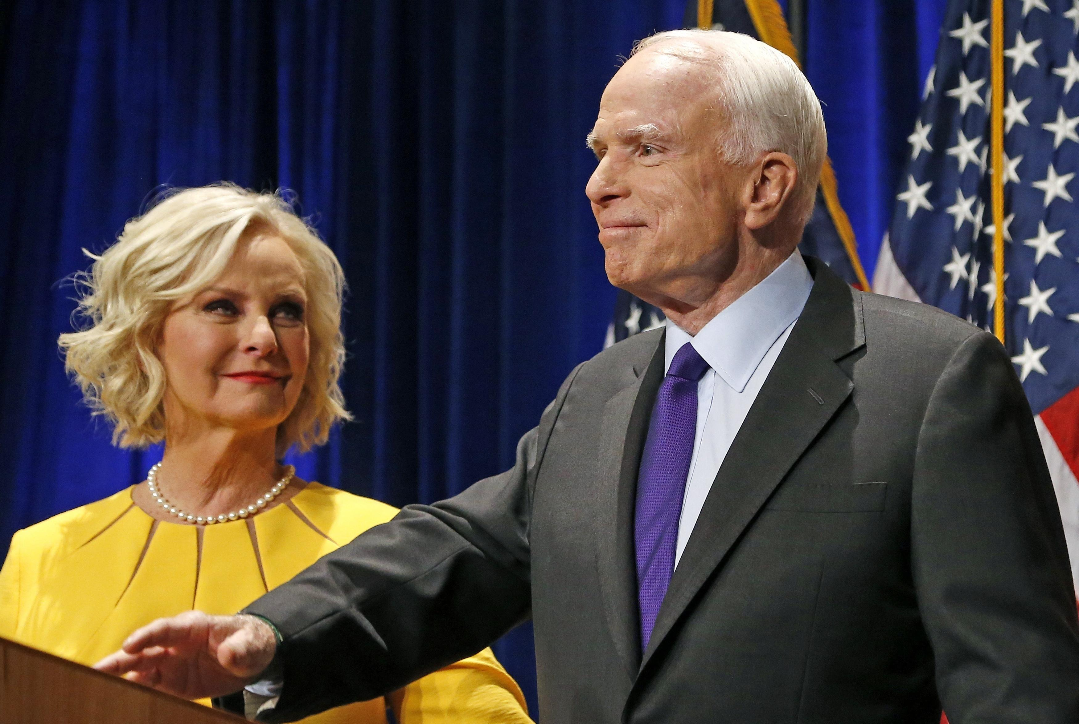 Cindy McCain touts civility on one-year anniversary of husband's death