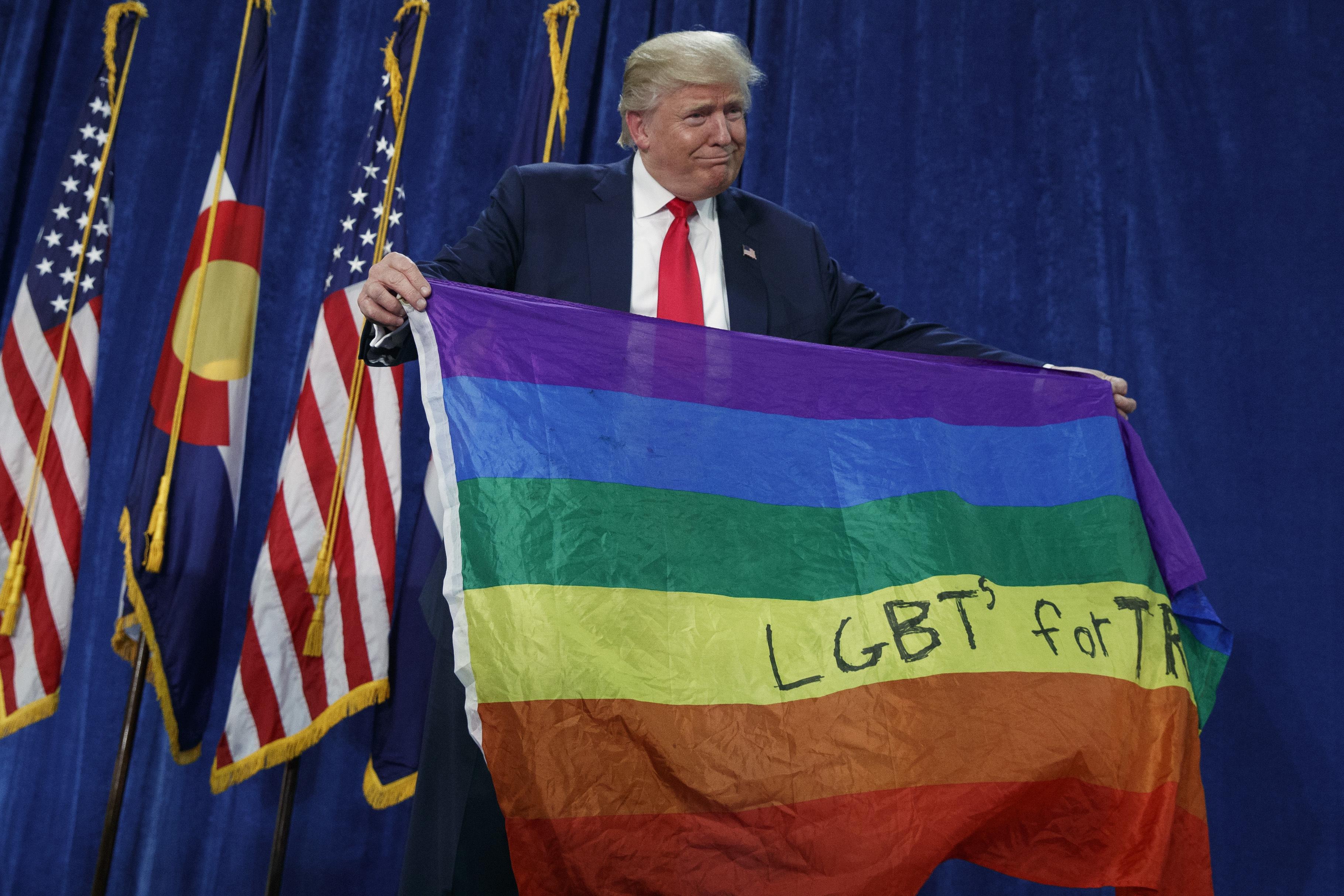 Donald Trump divides LGBTQ movement along party lines