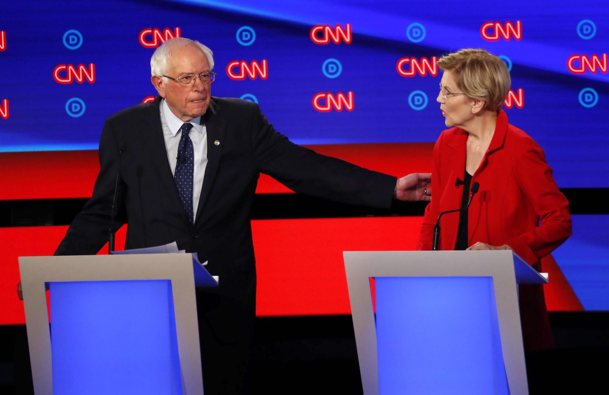 The Demcratic debate: A 'liberal sandwich with a moderate filling'