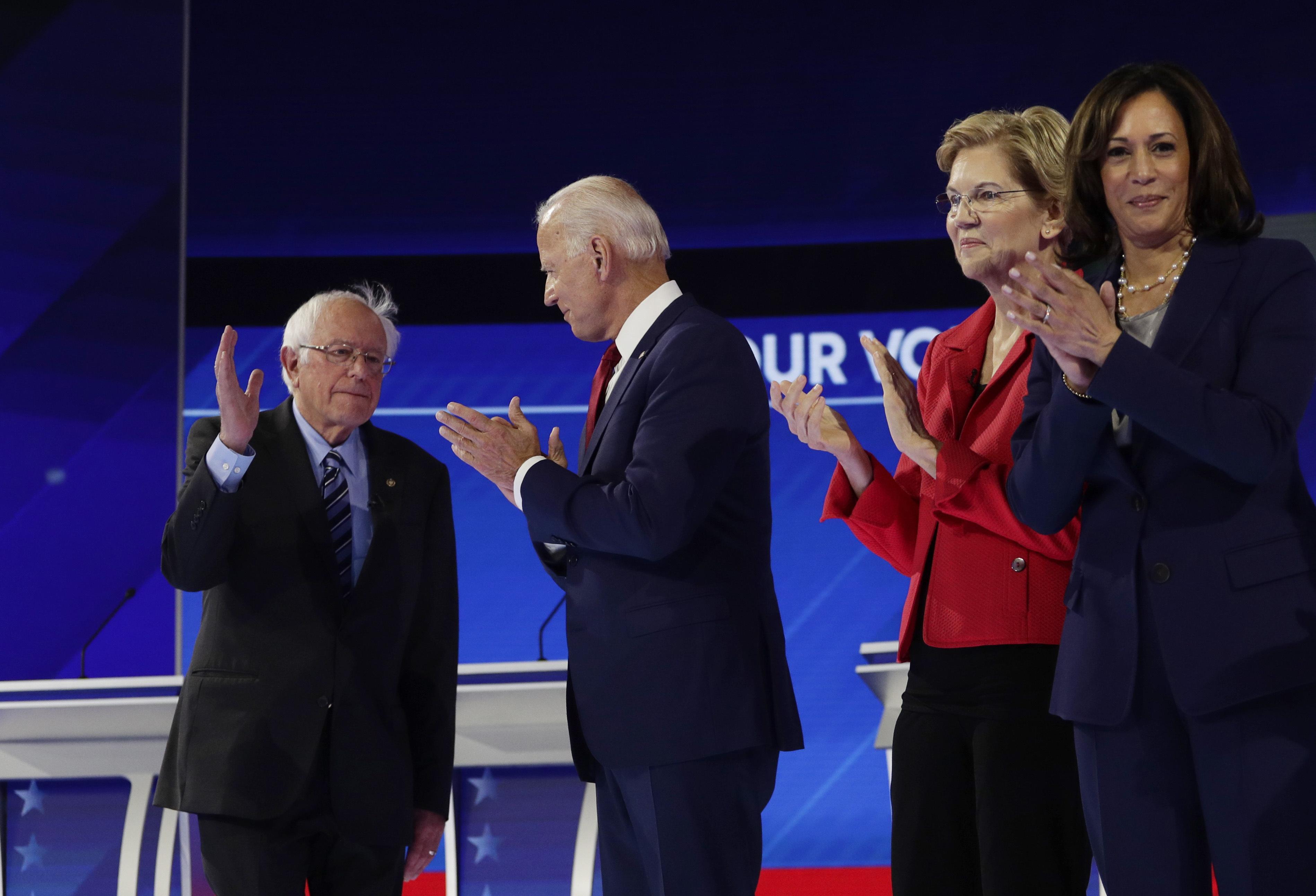 Biden, Sanders, Warren in tight race in California; Harris trails badl