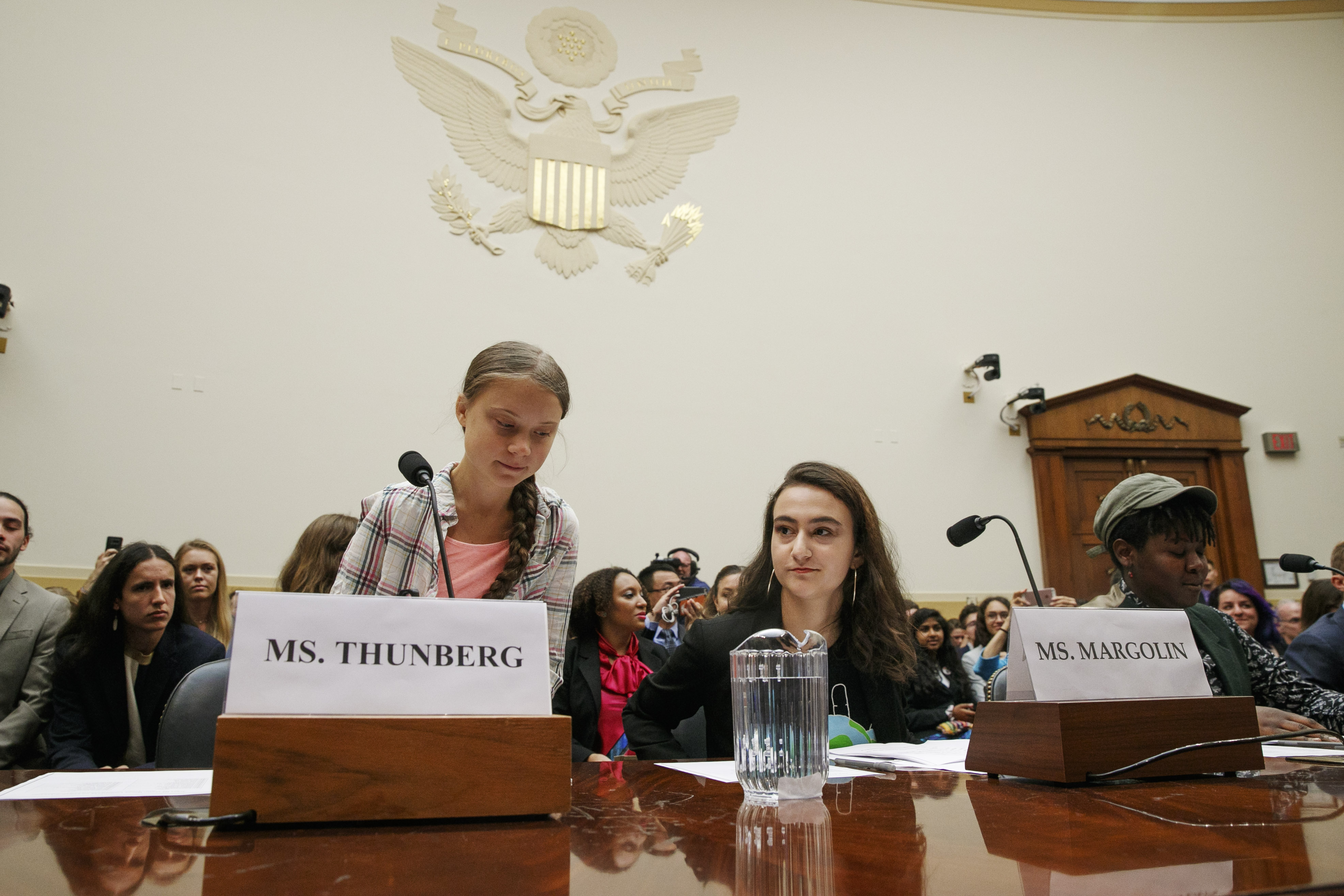 Greta Thunberg, Swedish teen climate activist, pitches lawmakers on Capitol Hill