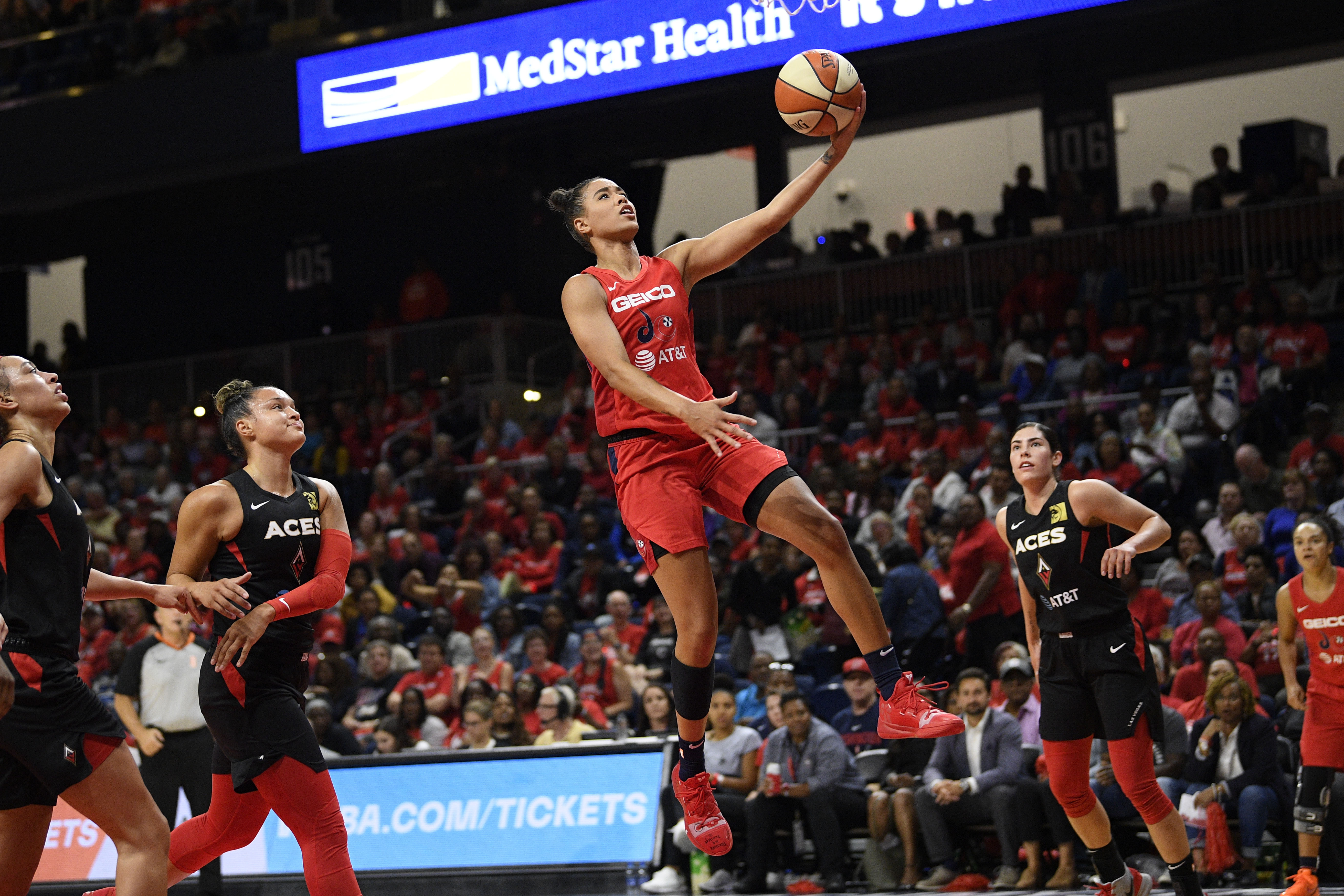 Mystics stave off Aces to take 2-0 series lead