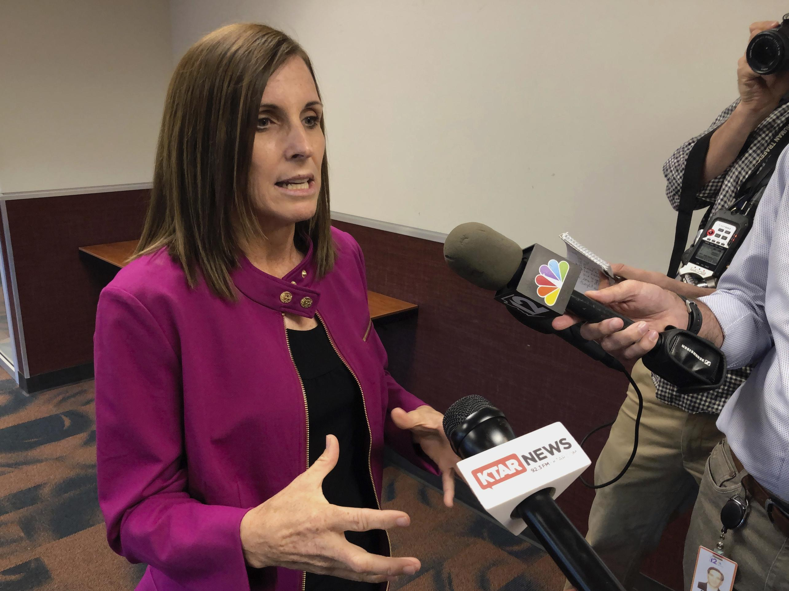 McSally slam of reporter as 'liberal hack' credited with fundraising bump for Democratic rival Kelly