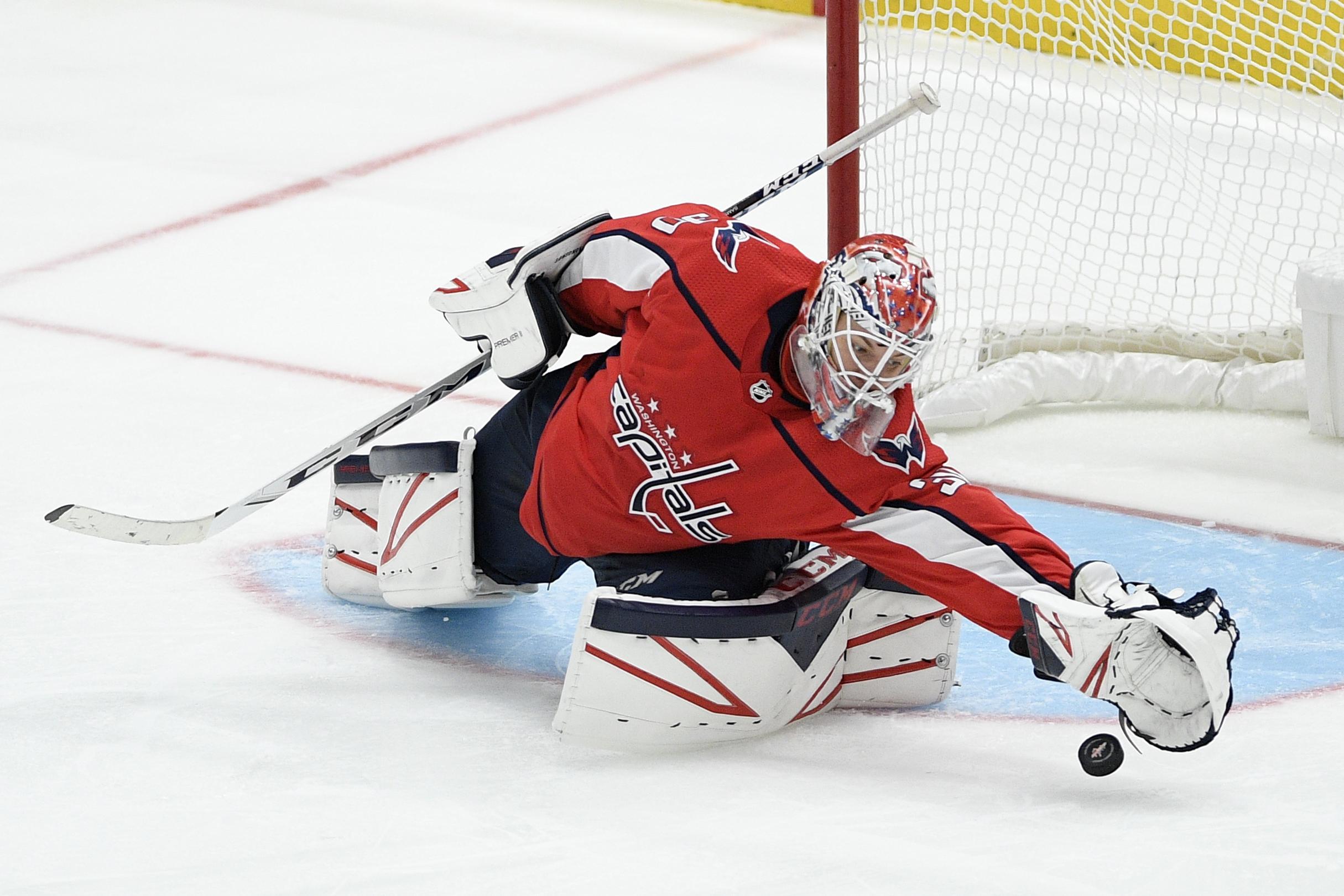 Ilya Samsonov tapped to start for Capitals vs. Toronto after Braden Holtby calamity