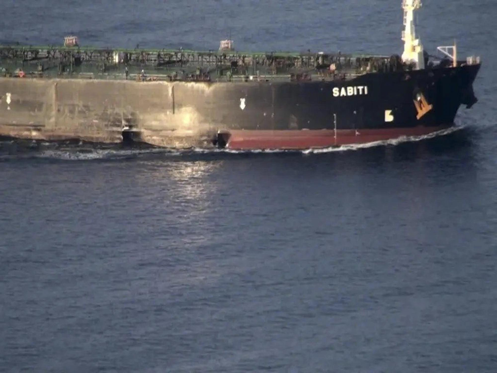 Images show damage after mysterious Iran oil tanker attack